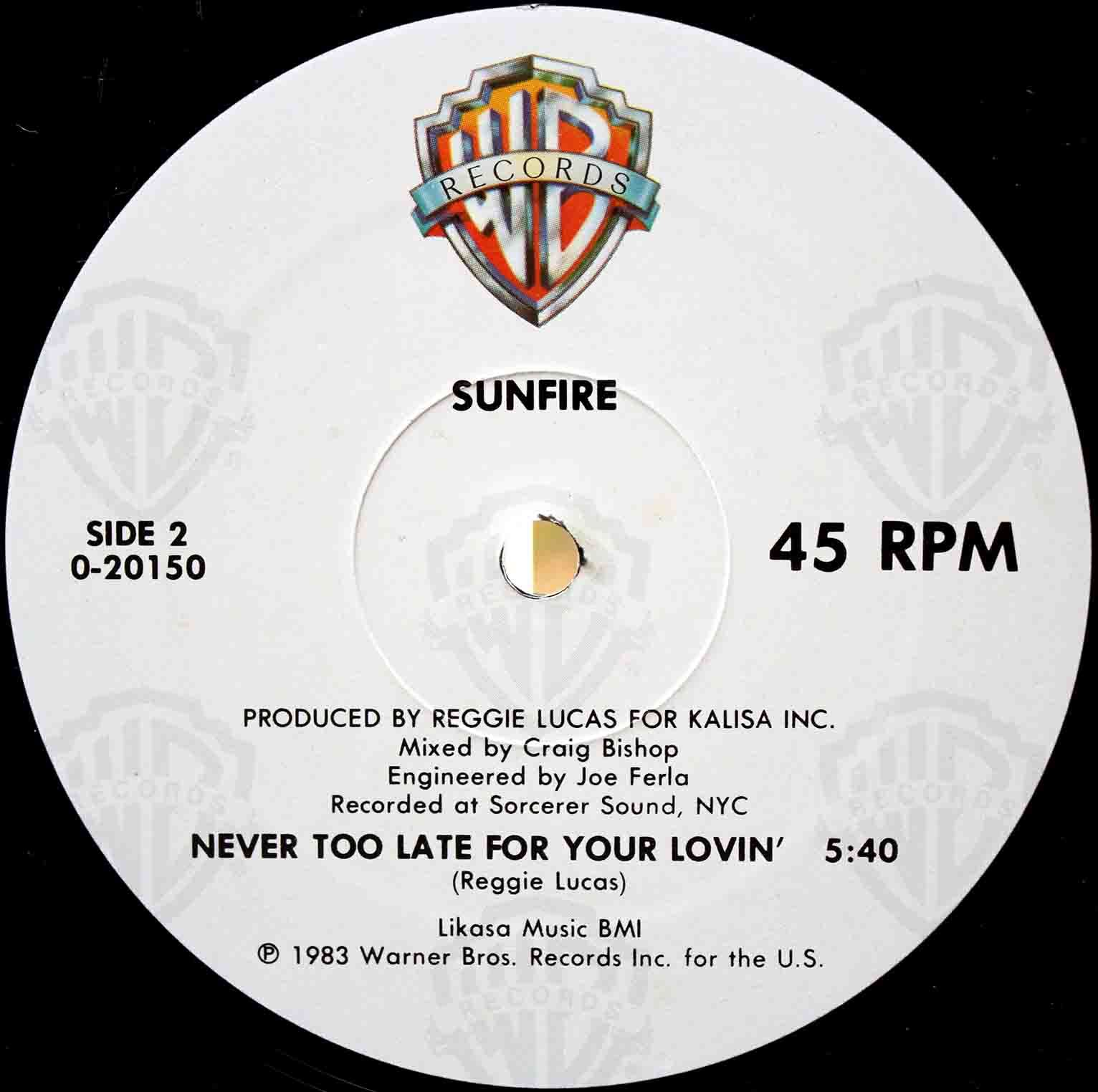 Sunfire Never Too Late For Your Lovin 04