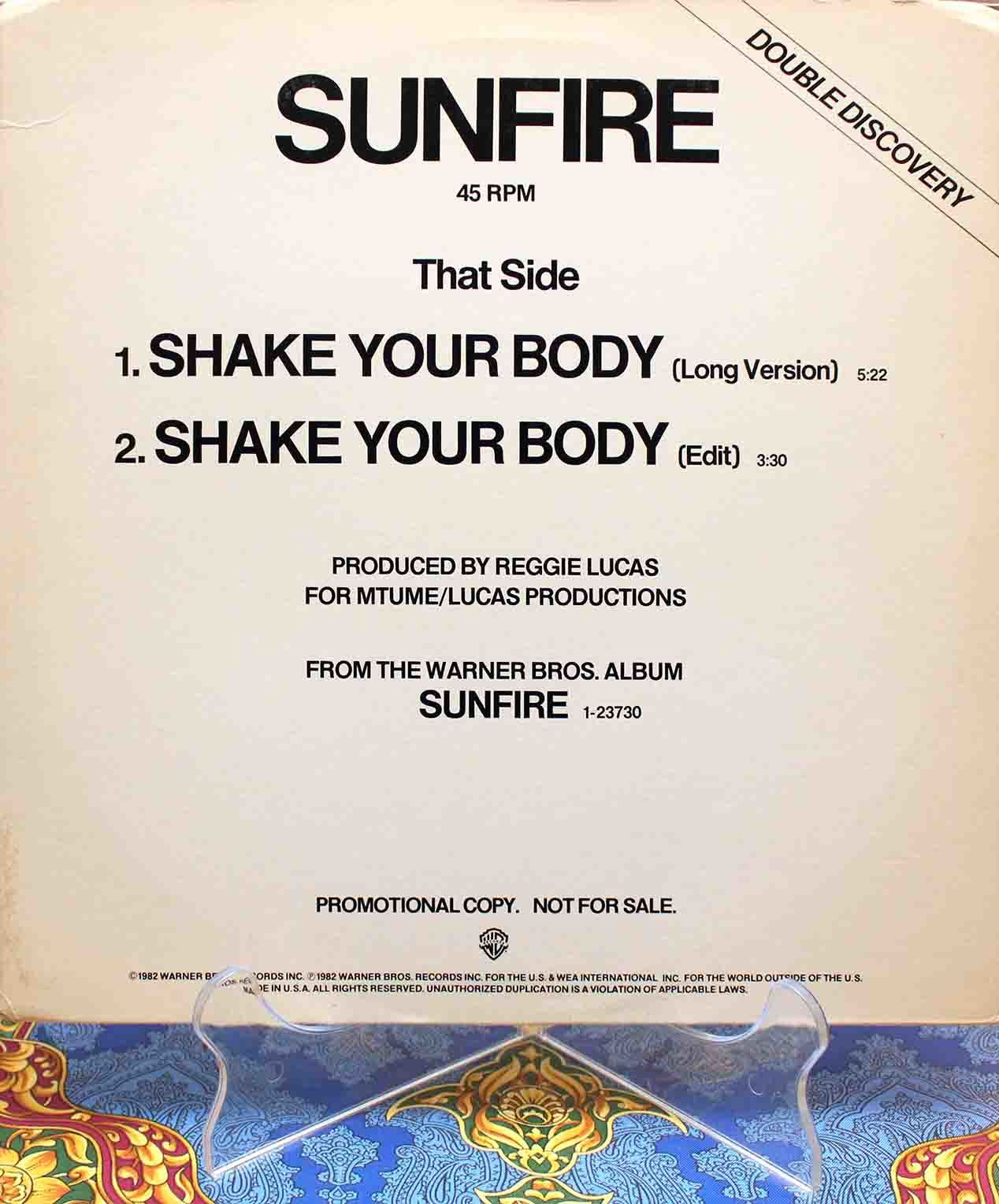 sunfire Shake your body US 01