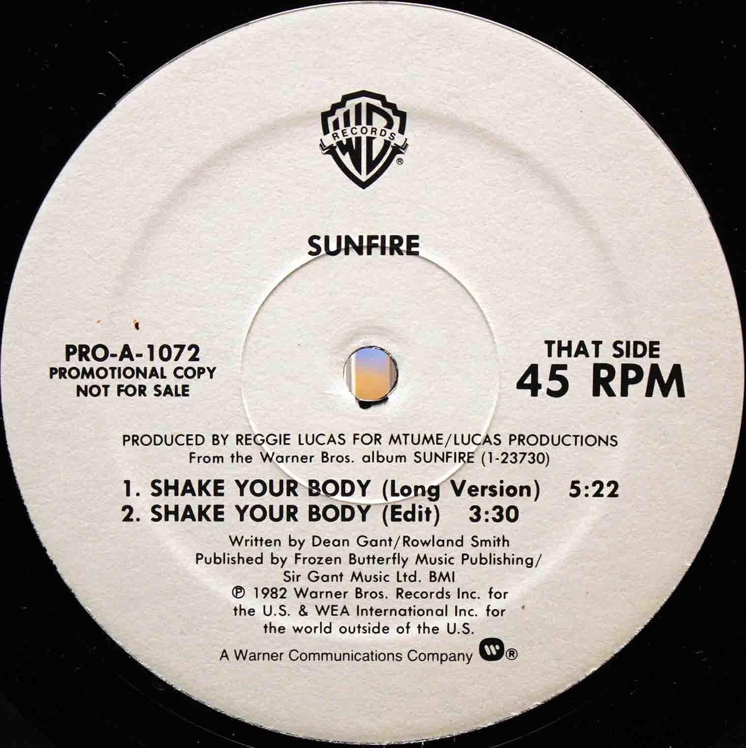 sunfire Shake your body US 02