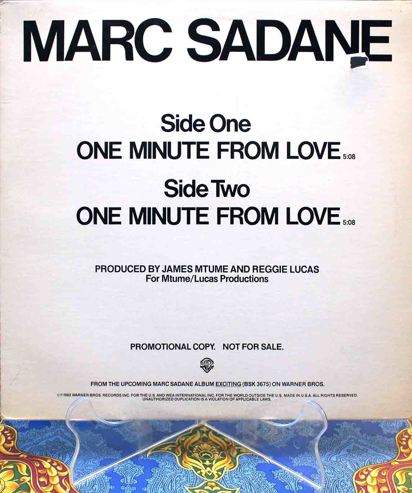 Marc Sadane - One Minute From Love 01
