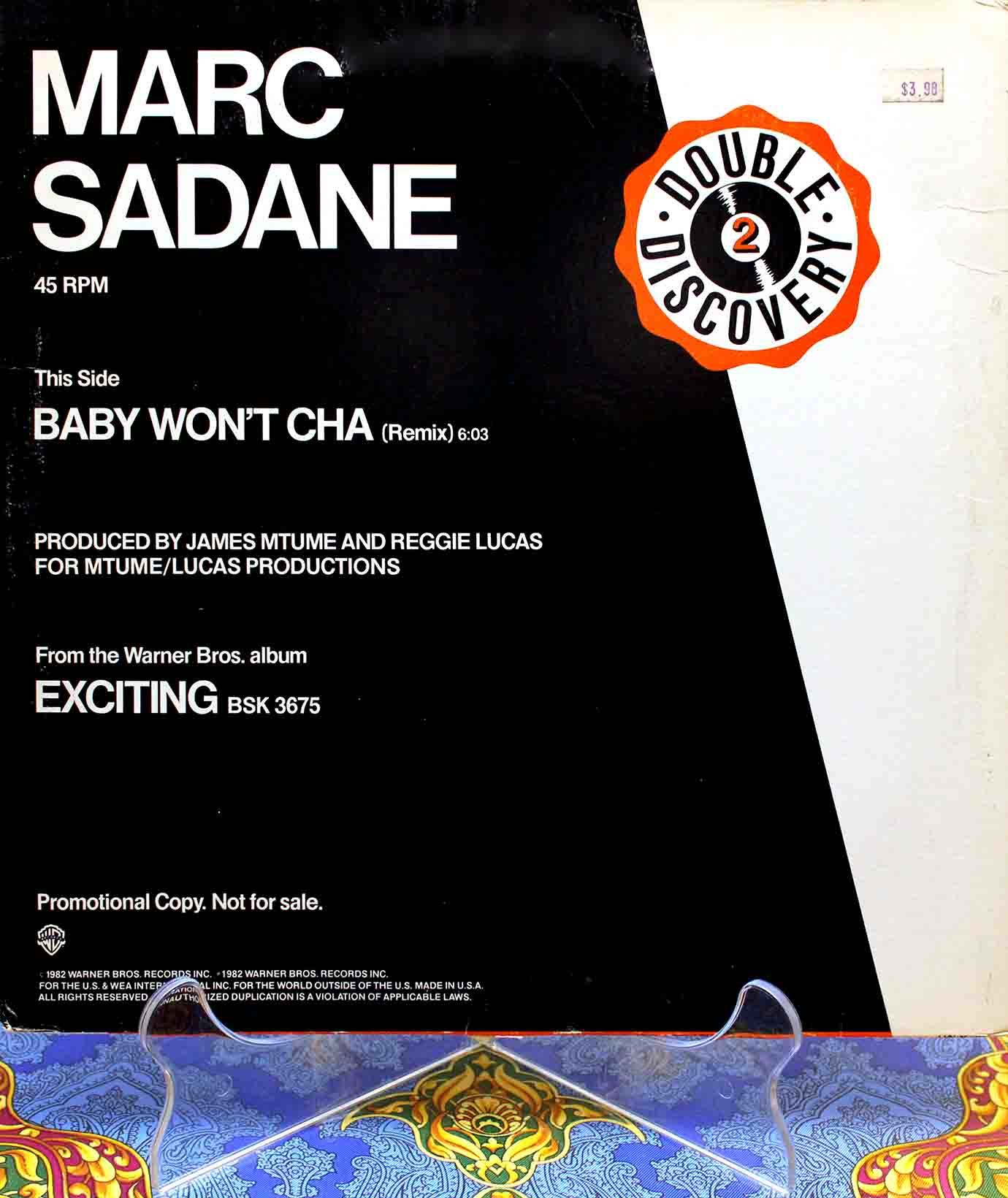 Marc Sadane Baby Wont Cha (Remix) 01