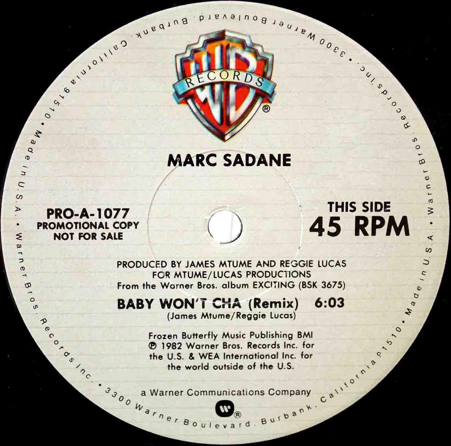 Marc Sadane Baby Wont Cha (Remix) 02