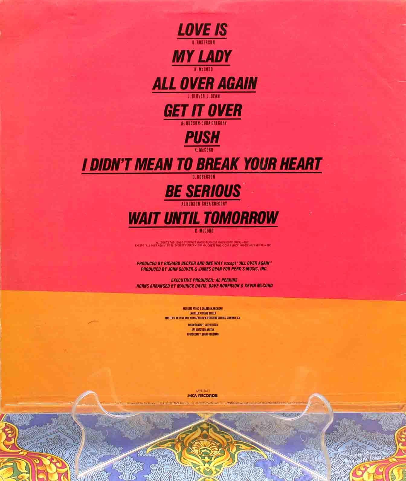 One Way – Love is LP 02