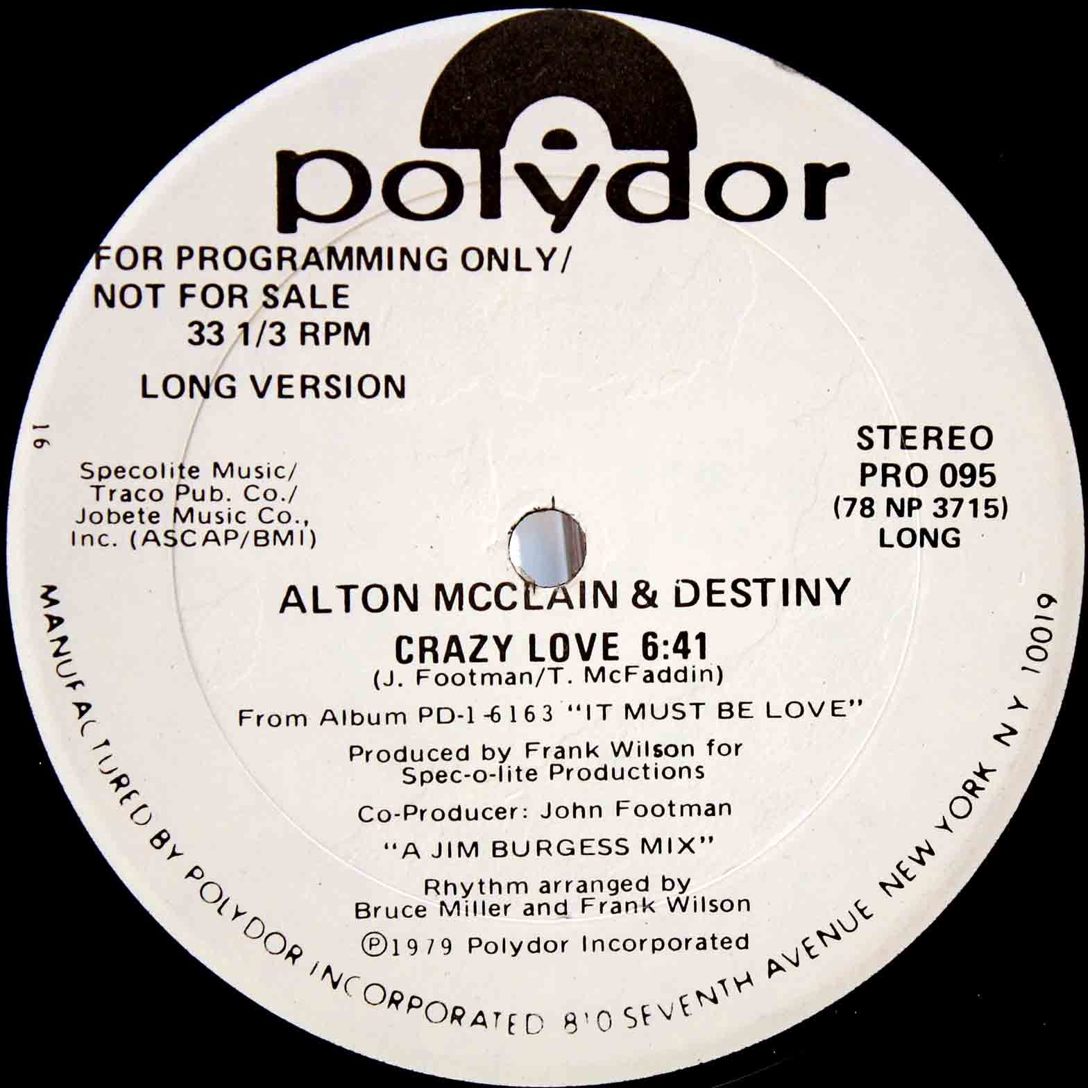 Alton McClain Destiny ‎– Crazy Love 03