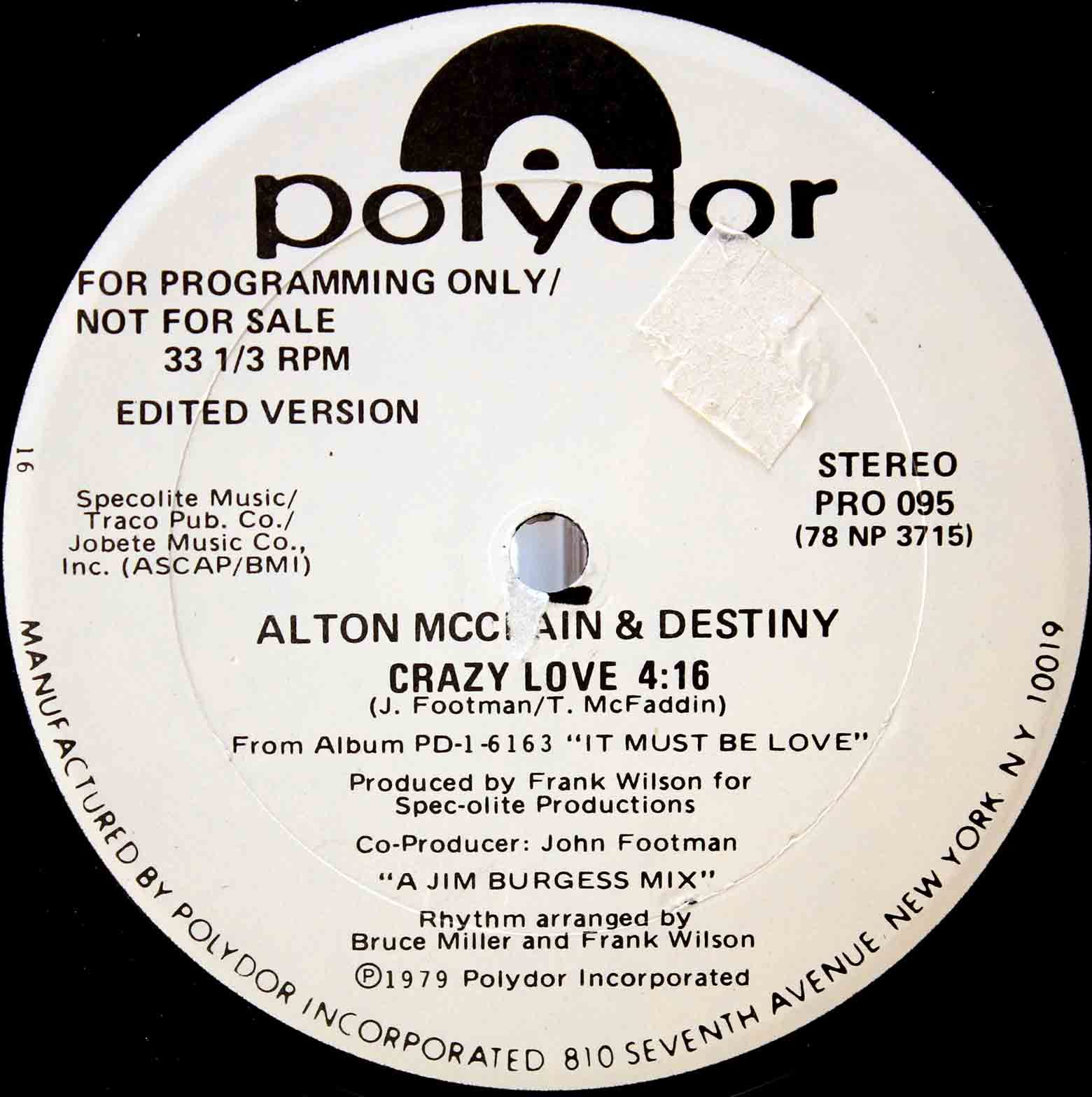 Alton McClain Destiny ‎– Crazy Love 04