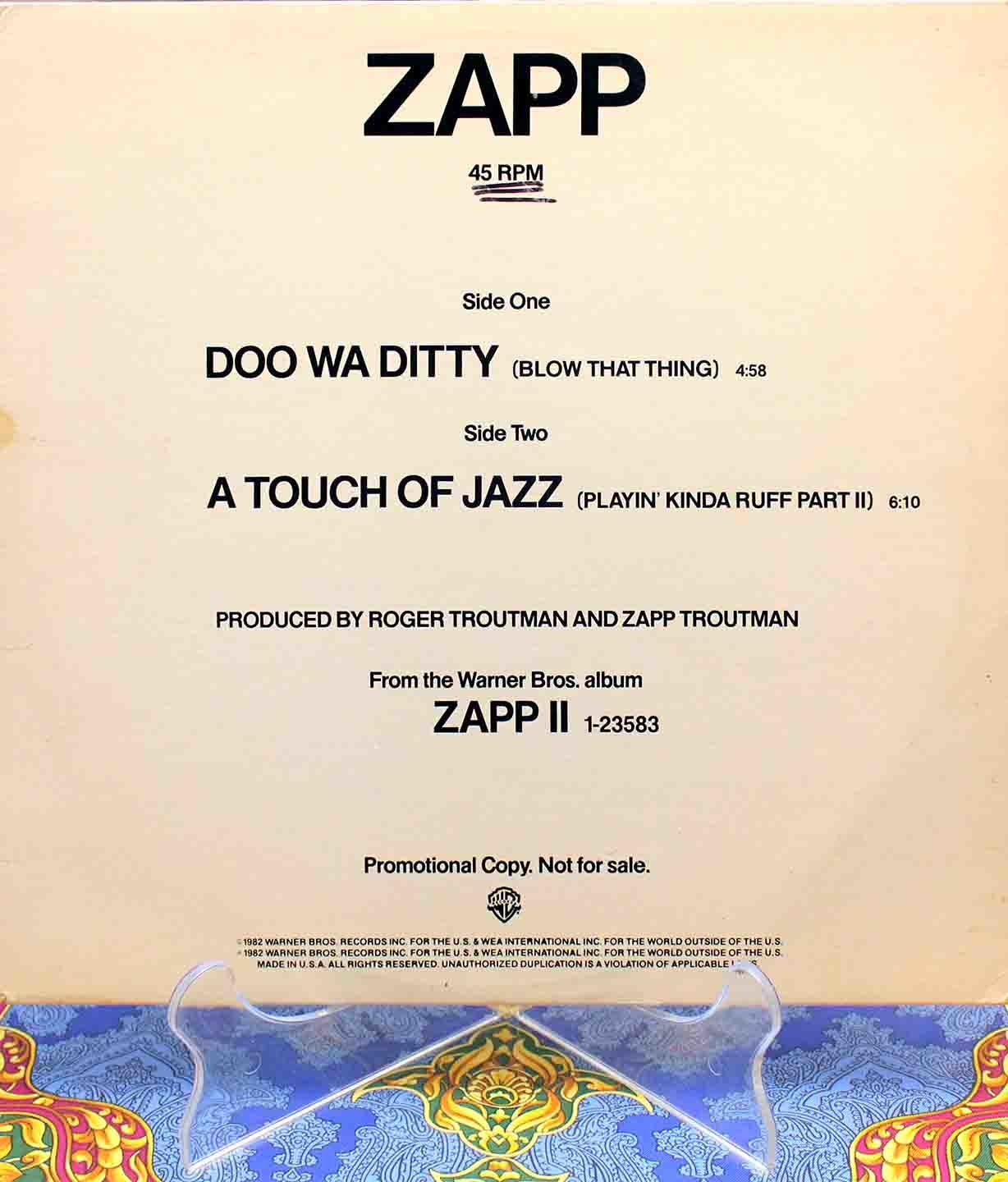 Zapp ‎A Touch Of Jazz 01