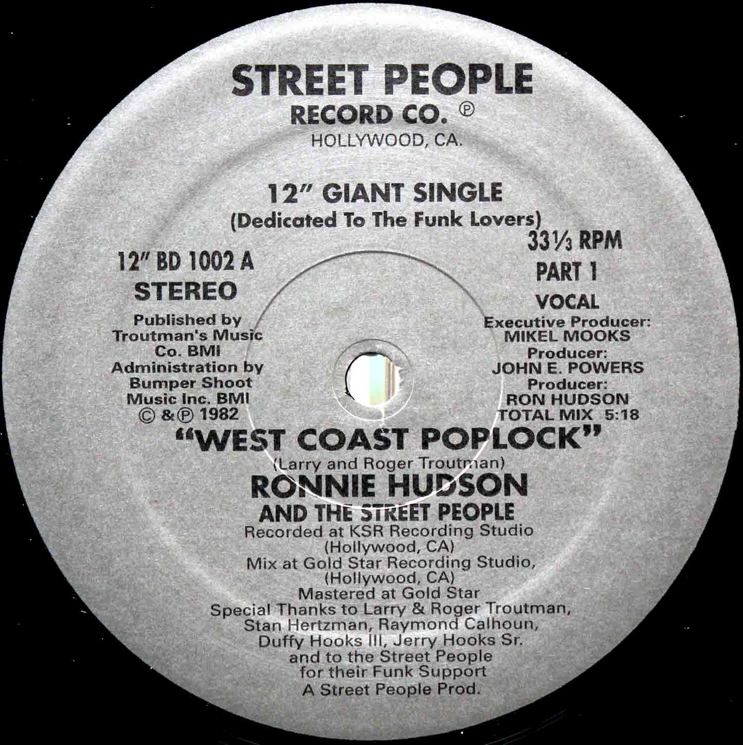 Ronnie Hudson And The Street People ‎– West Coast Poplock 03
