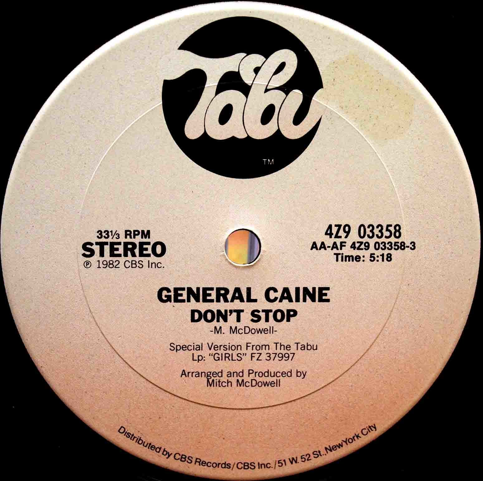 General Caine - Dont Stop 03