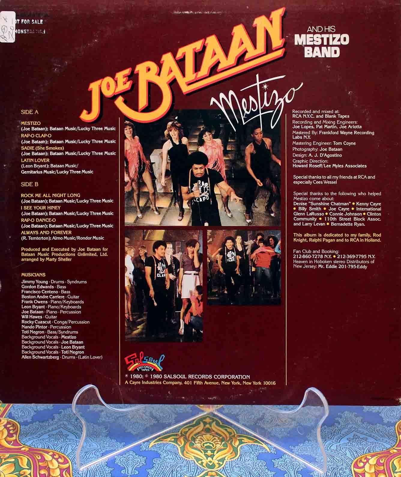 Joe Bataan – Mestizo LP 02
