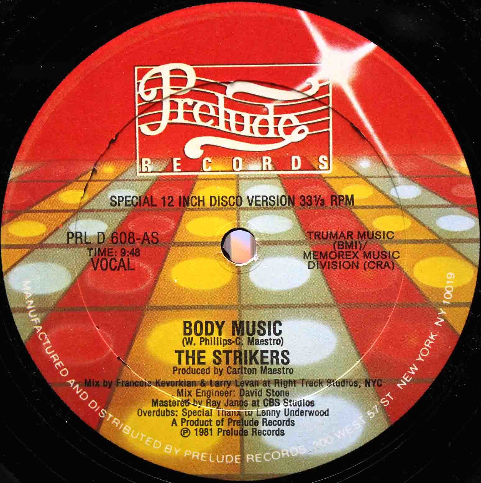 The Strikers ‎– Body Music 03