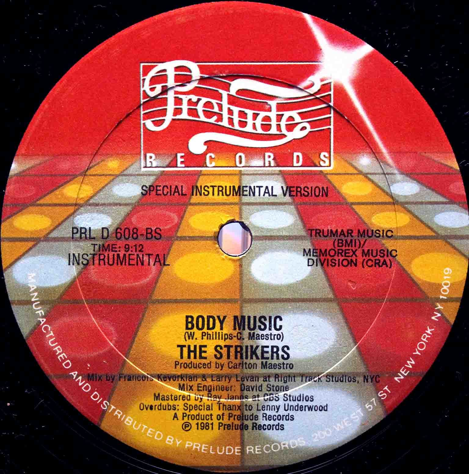 The Strikers ‎– Body Music 04