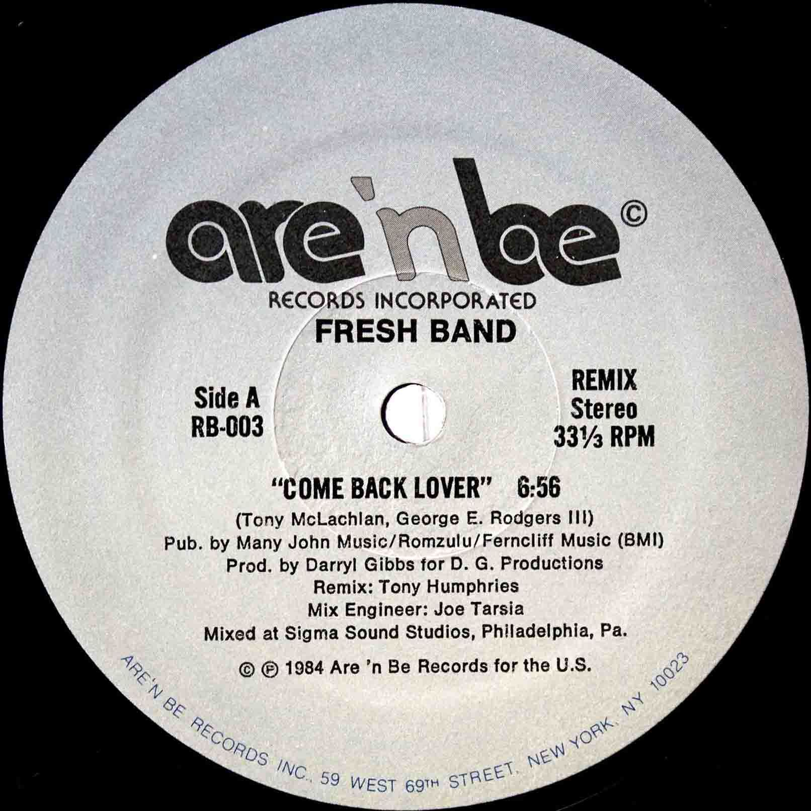Fresh Band ‎– Come Back Lover 03