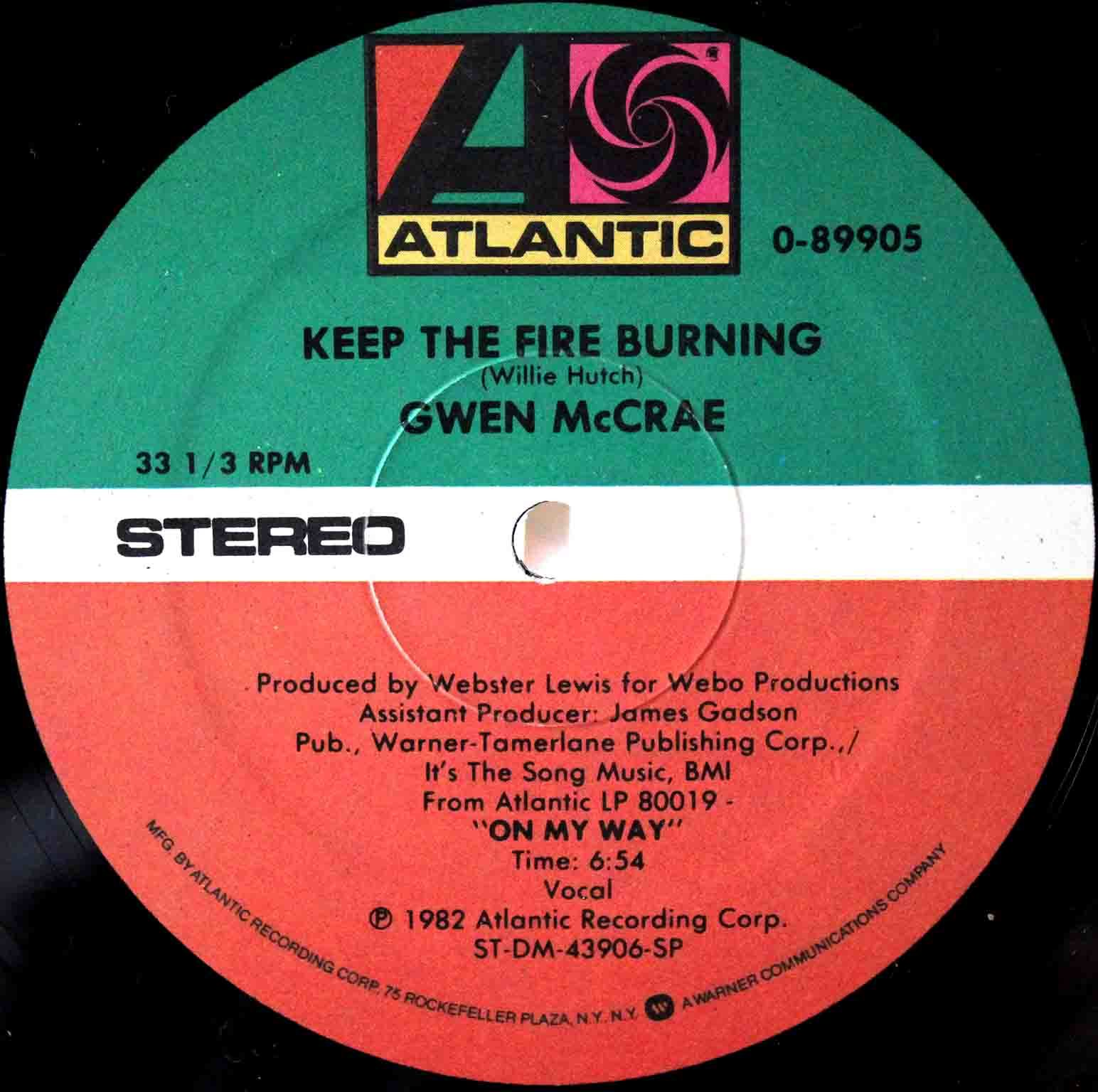 Gwen McCrae ‎– Keep The Fire Burning US 03