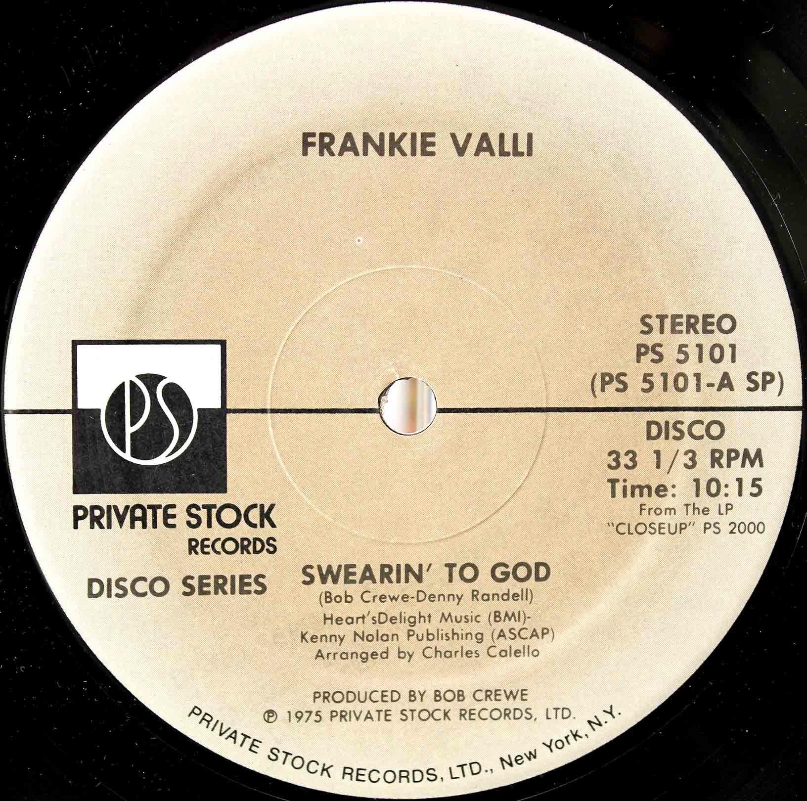 Frankie Valli – Swearin To God 03