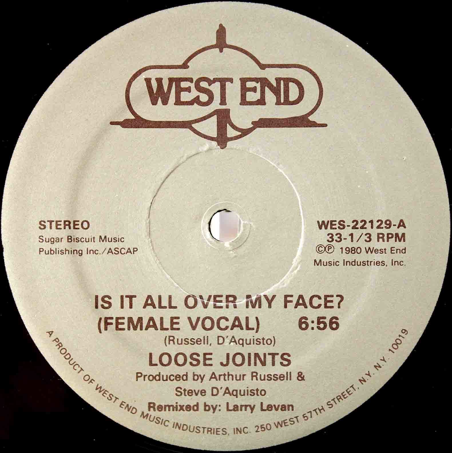 Loose Joints ‎– Is It All Over My Face 03