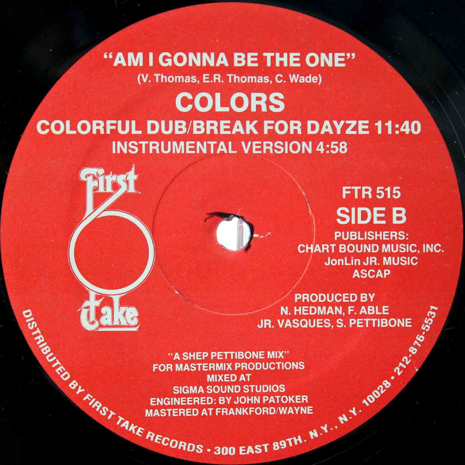 Colors Am I Gonna Be The One 04