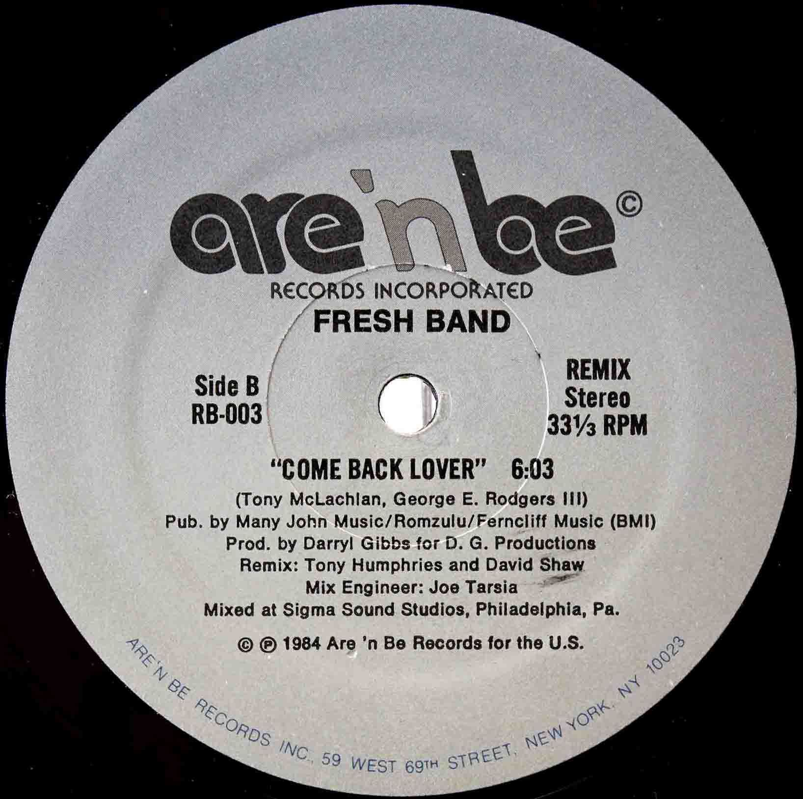 Fresh Band ‎– Come Back Lover 04