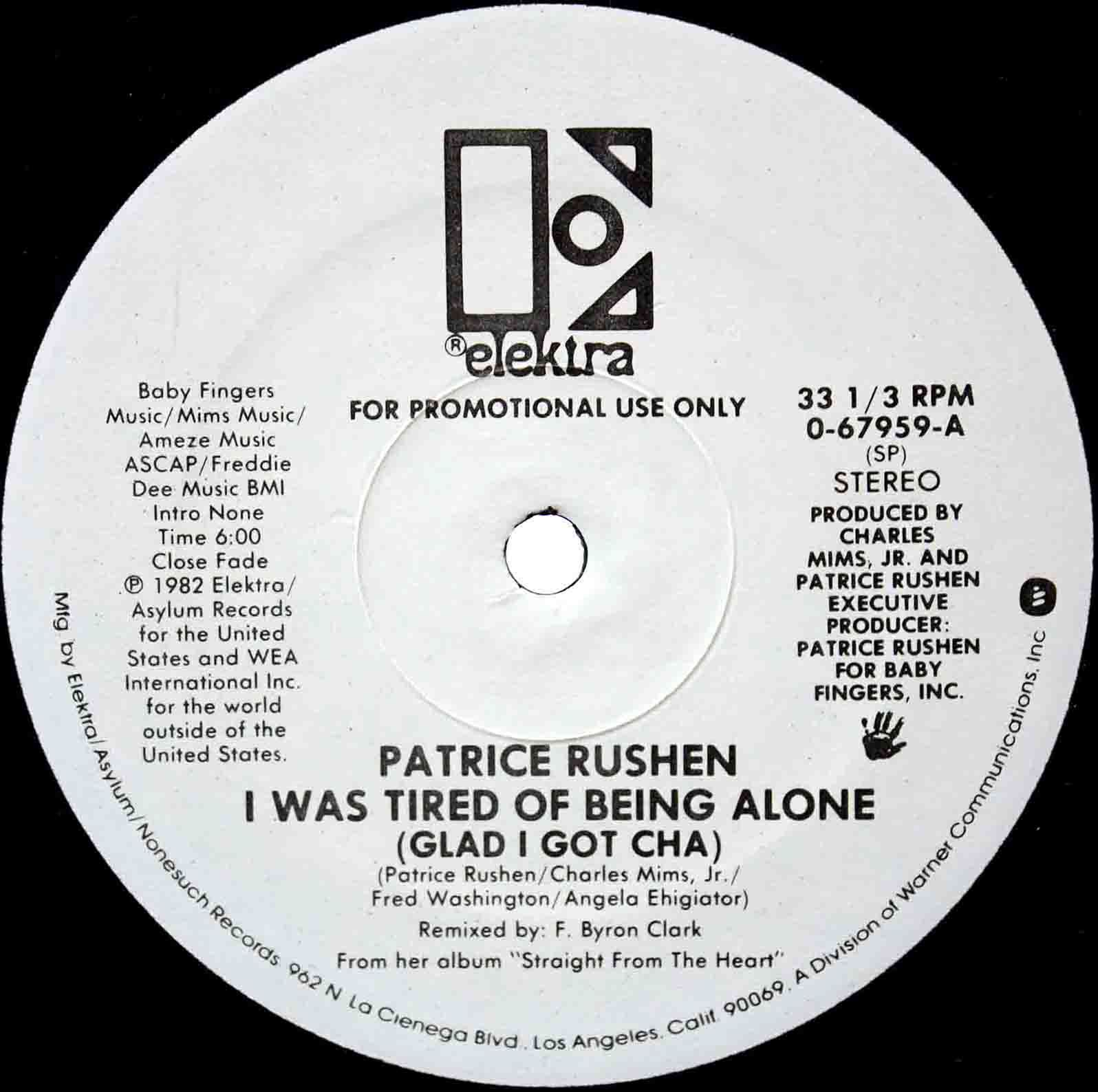 Patrice Rushen – I Was Tired Of Being Alone US 03