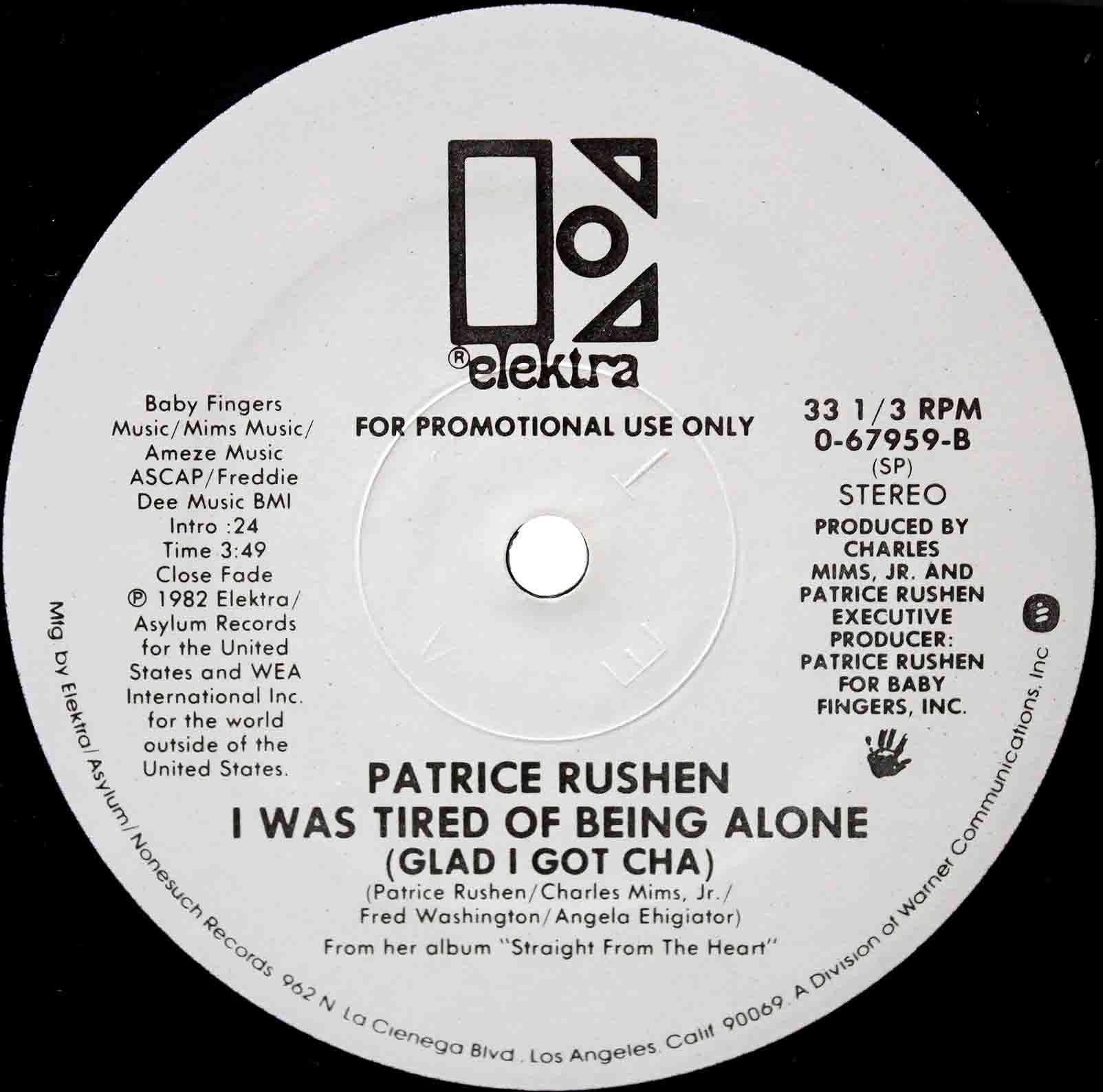 Patrice Rushen – I Was Tired Of Being Alone US 04