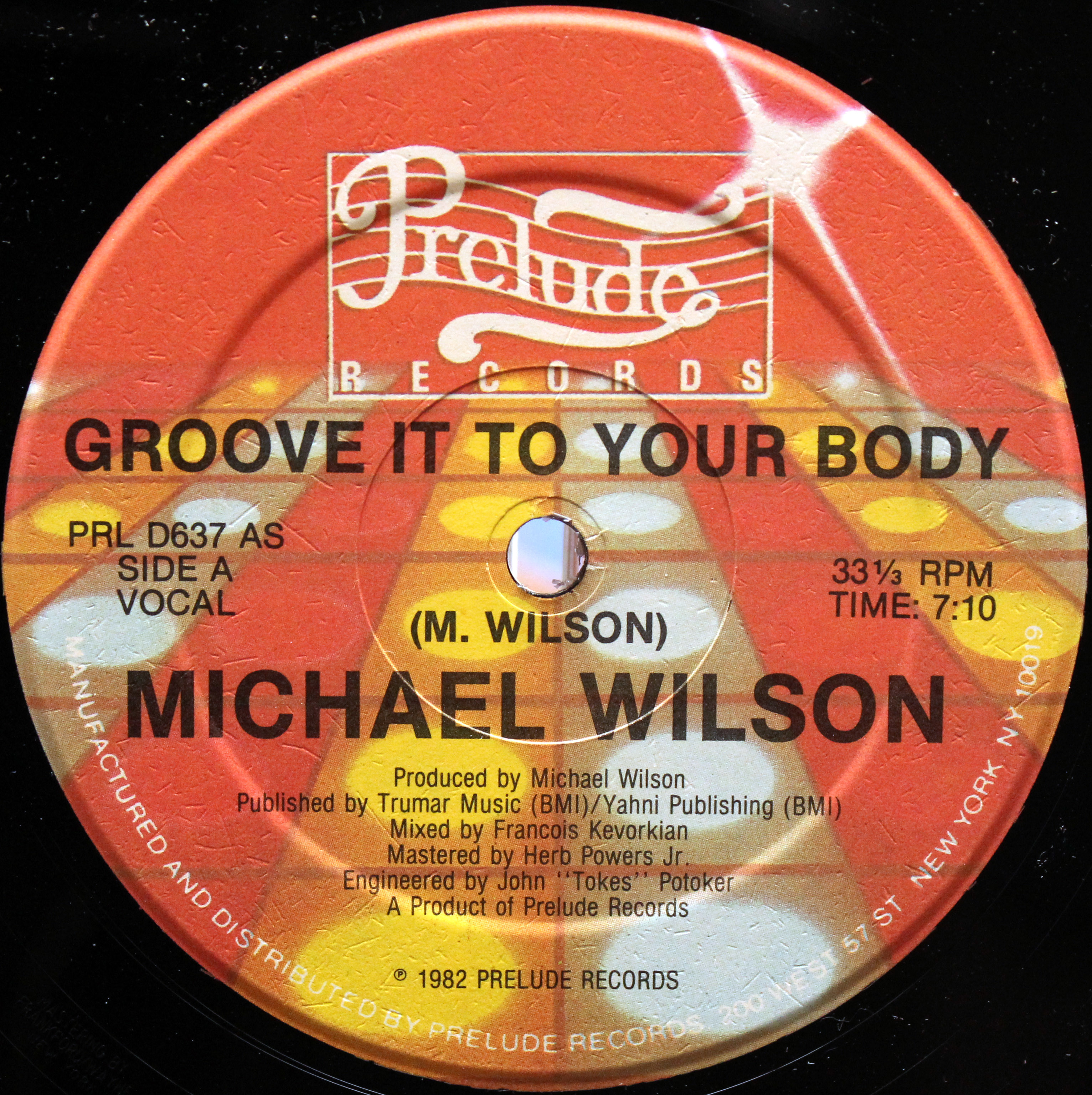 Michael Wilson ‎– Groove It To Your Body 03