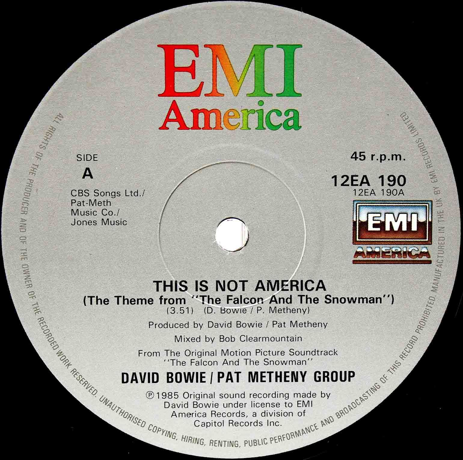 David Bowie Pat Metheny Group – This Is Not America 03