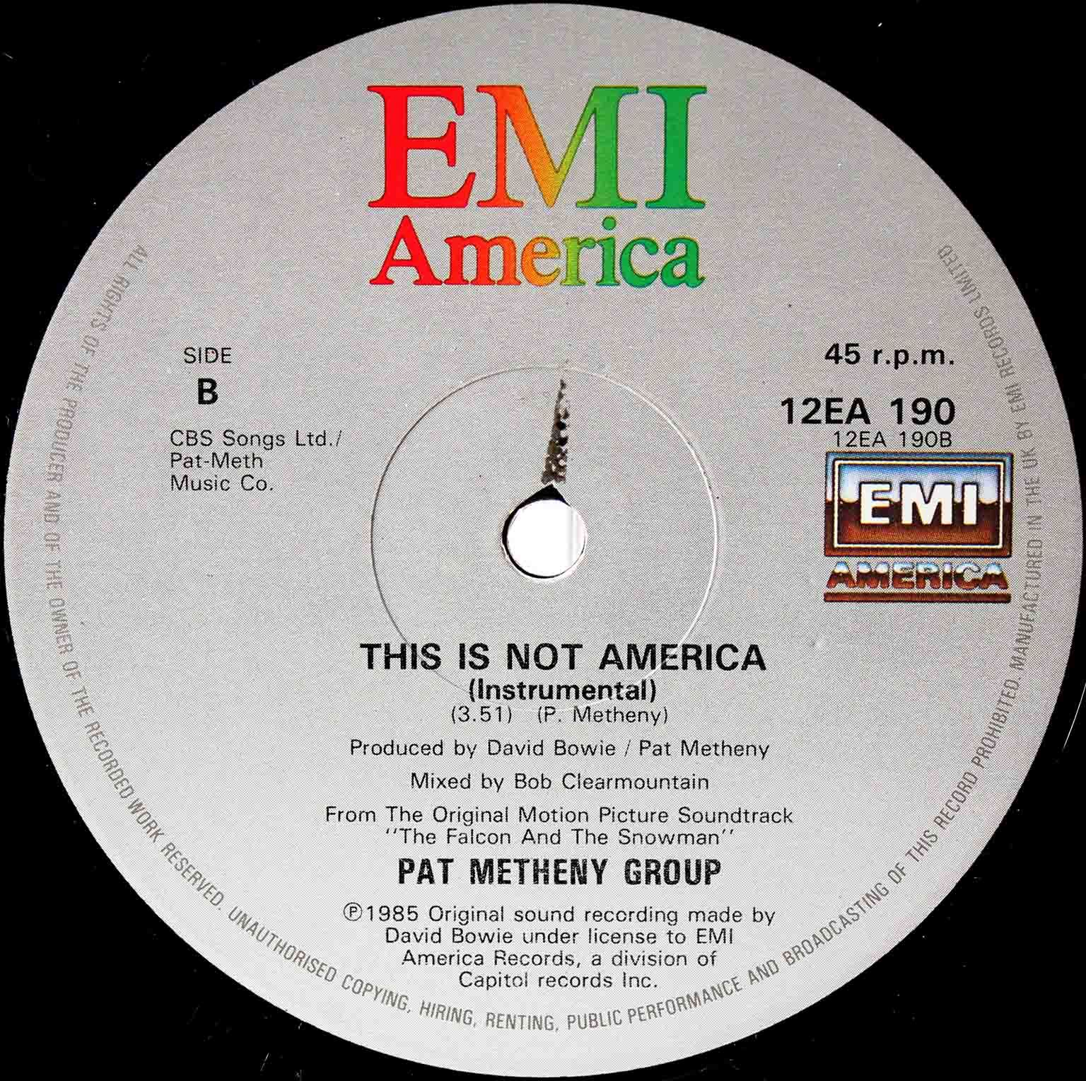 David Bowie Pat Metheny Group – This Is Not America 04