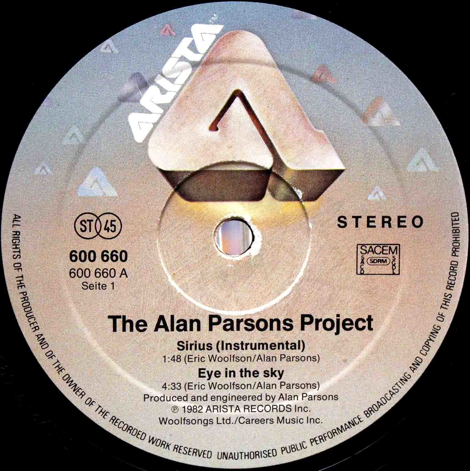Alan Parsons Project – Eye In The Sky 12 03