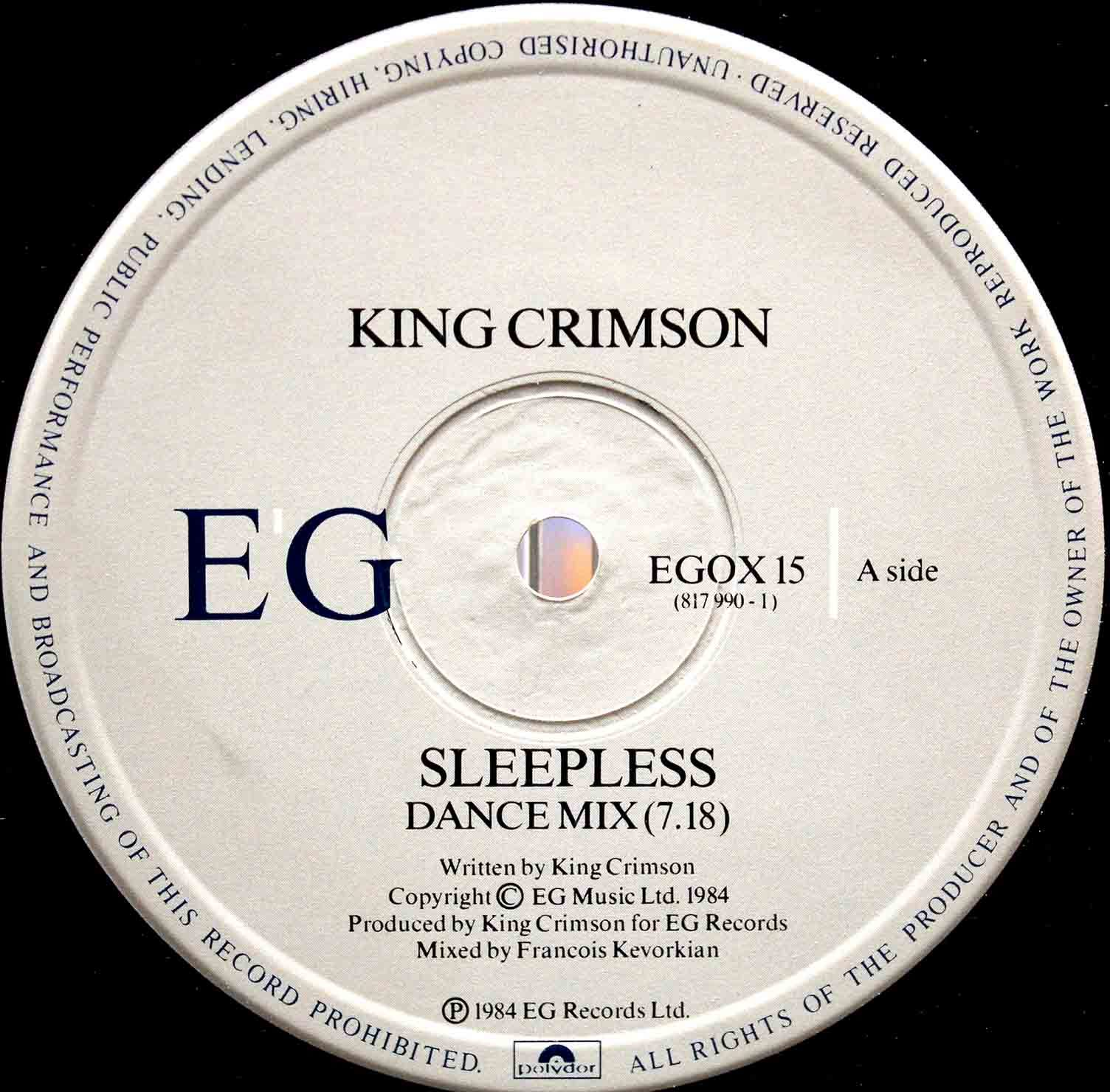 King Crimson Sleepless 03