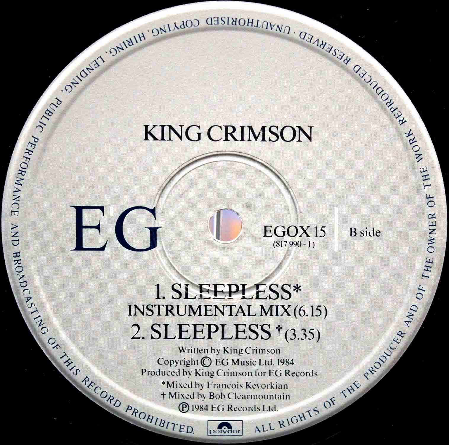 King Crimson Sleepless 04