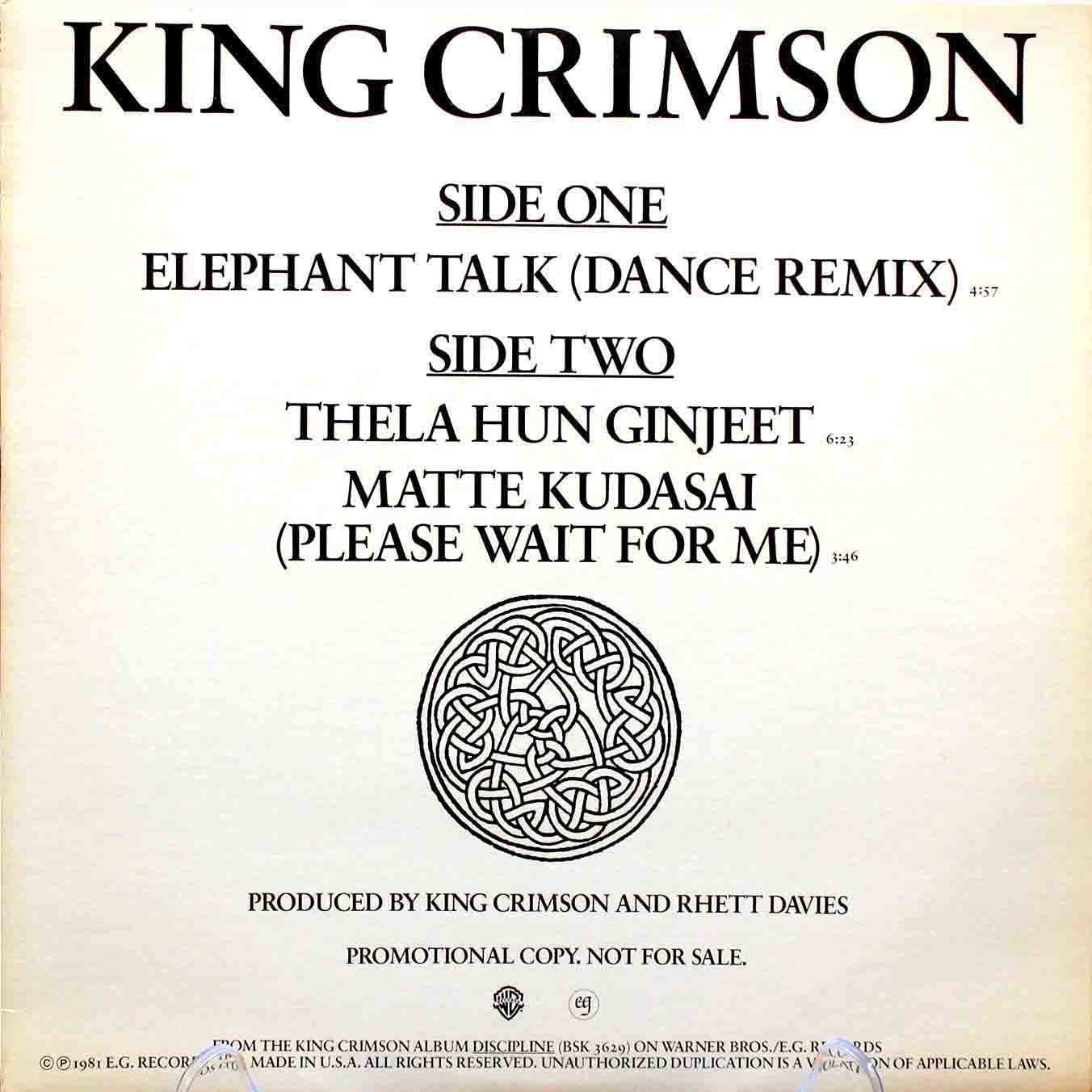 King Crimson ‎– Elephant Talk 03