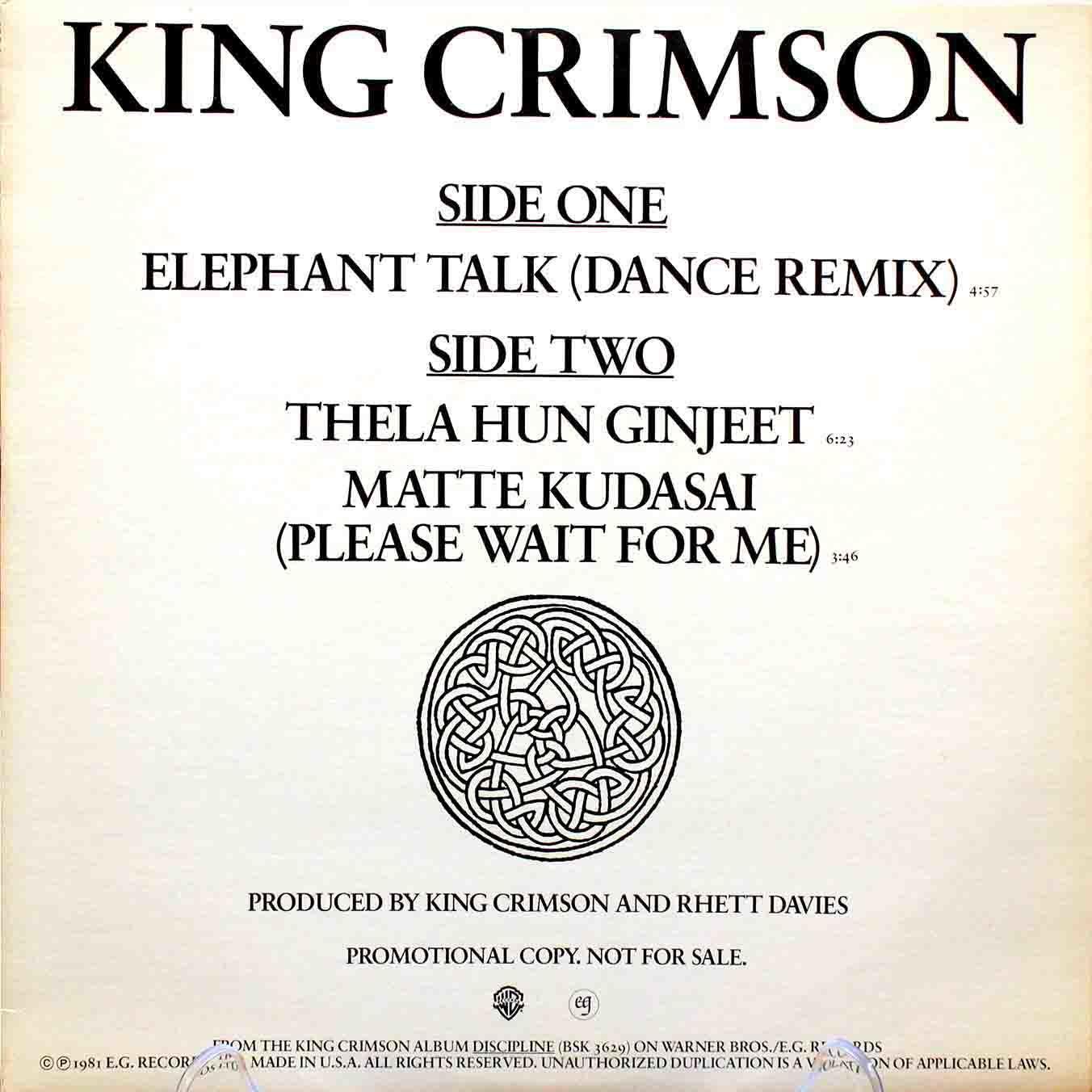 King Crimson – Elephant Talk 03