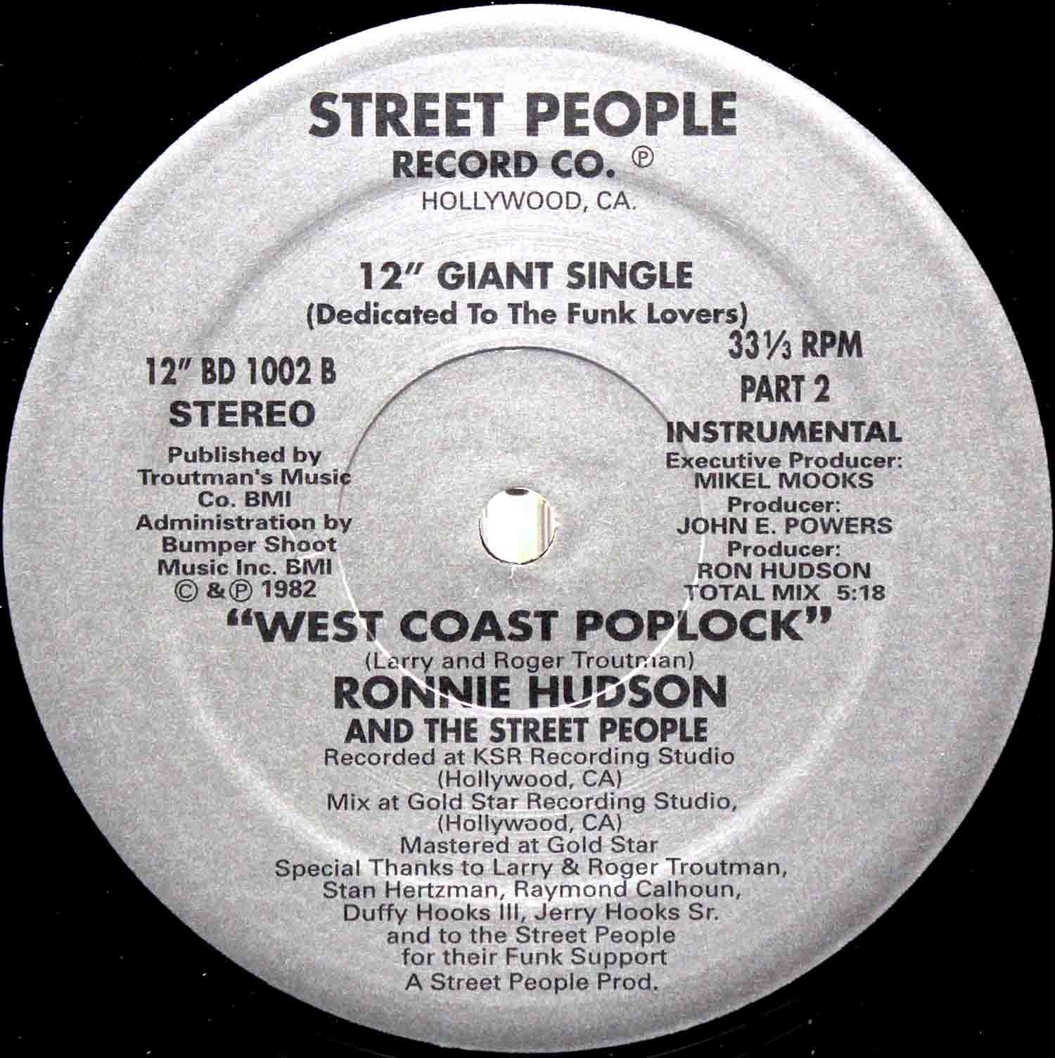 Ronnie Hudson And The Street People ‎– West Coast Poplock 04
