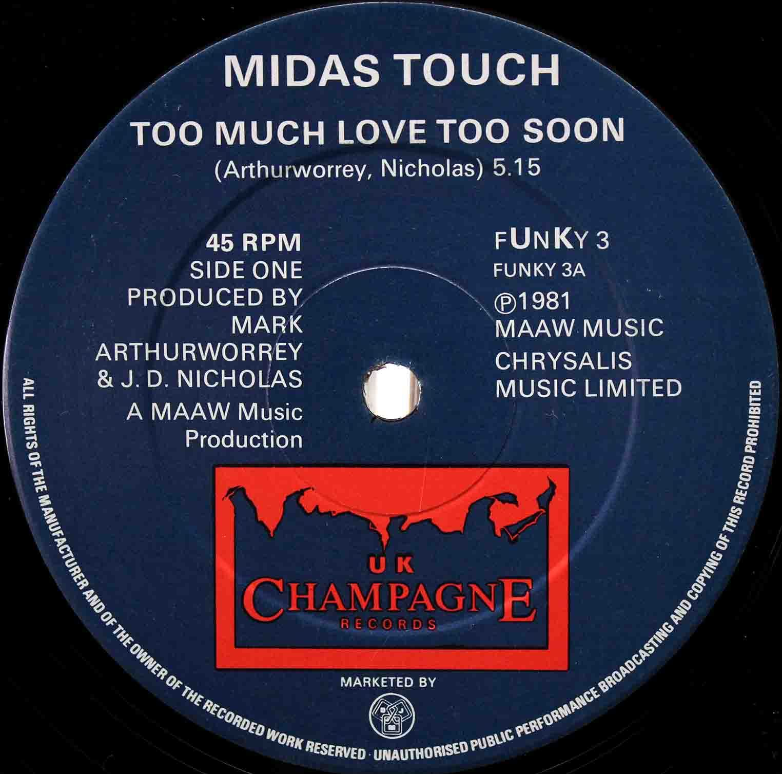 Midas Touch ‎– Too Much Love Too Soon 03