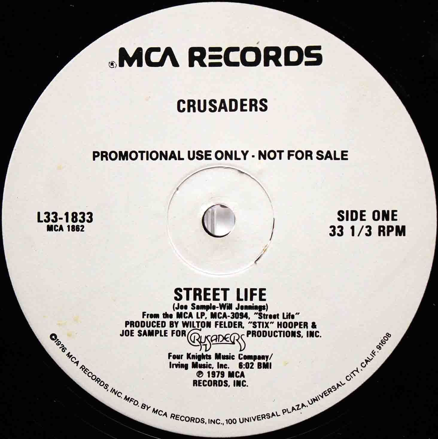 The Crusaders ‎– Street Life US Promo 03