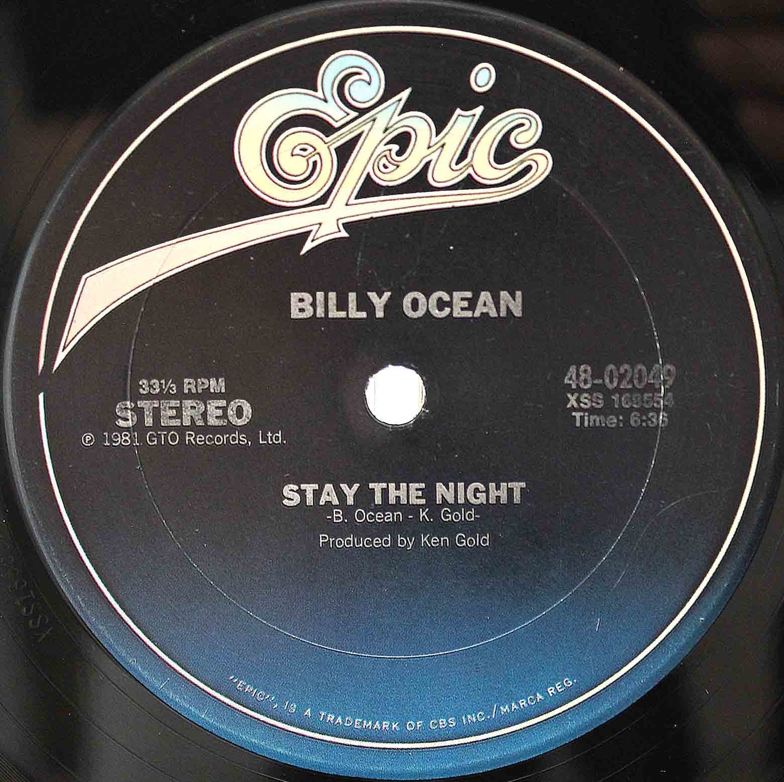 Billy Ocean 12 Stay The Night 03