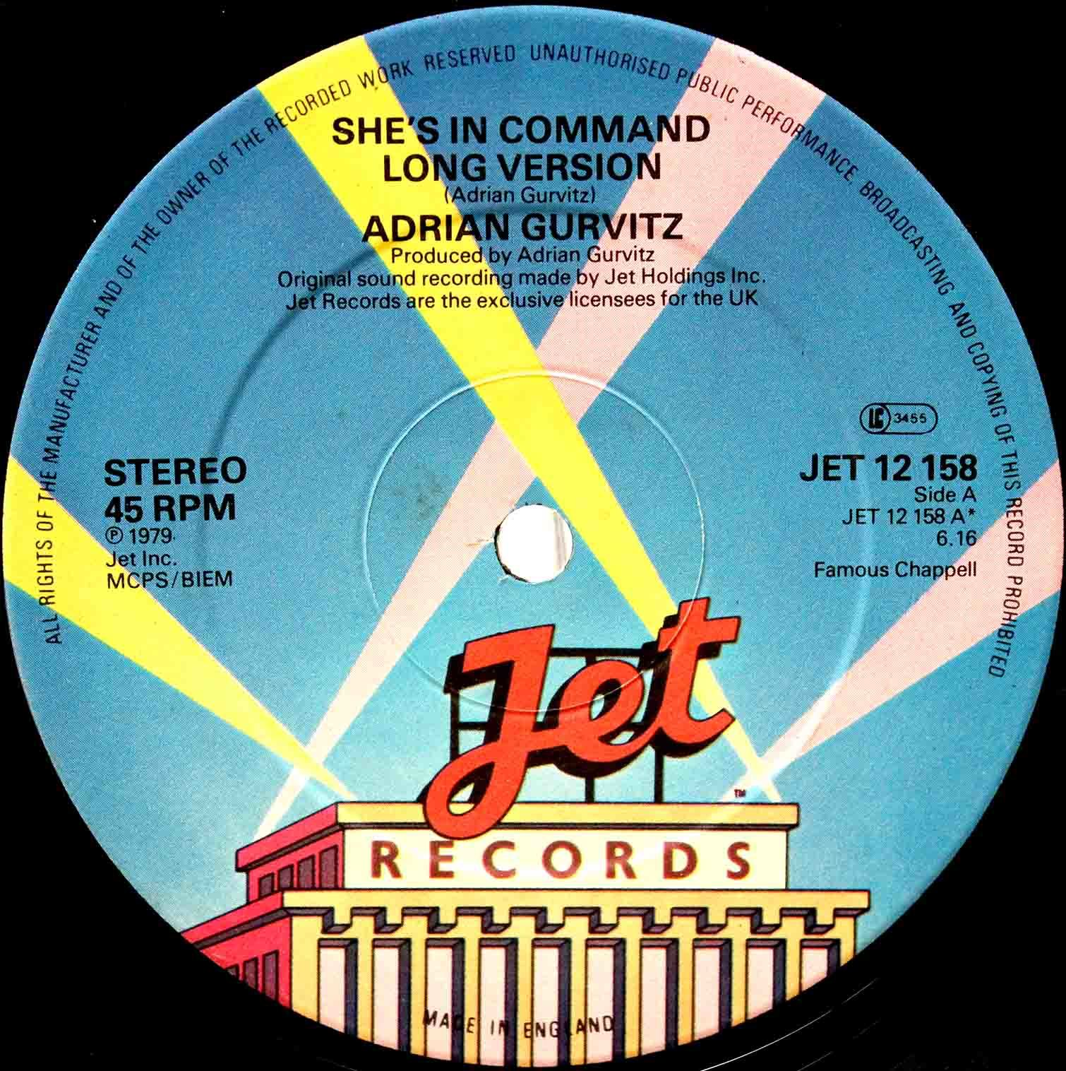 Adrian Gurvitz ‎– Shes In Command 02