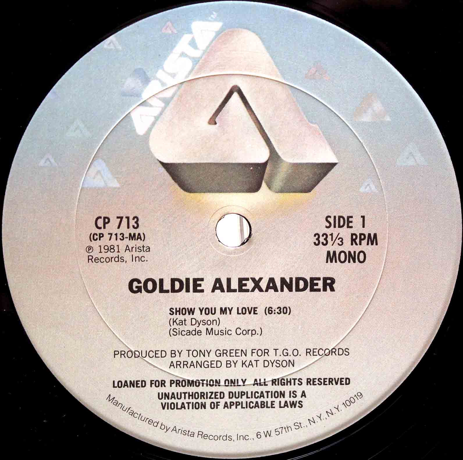 Goldie Alexander ‎- show you my love 03