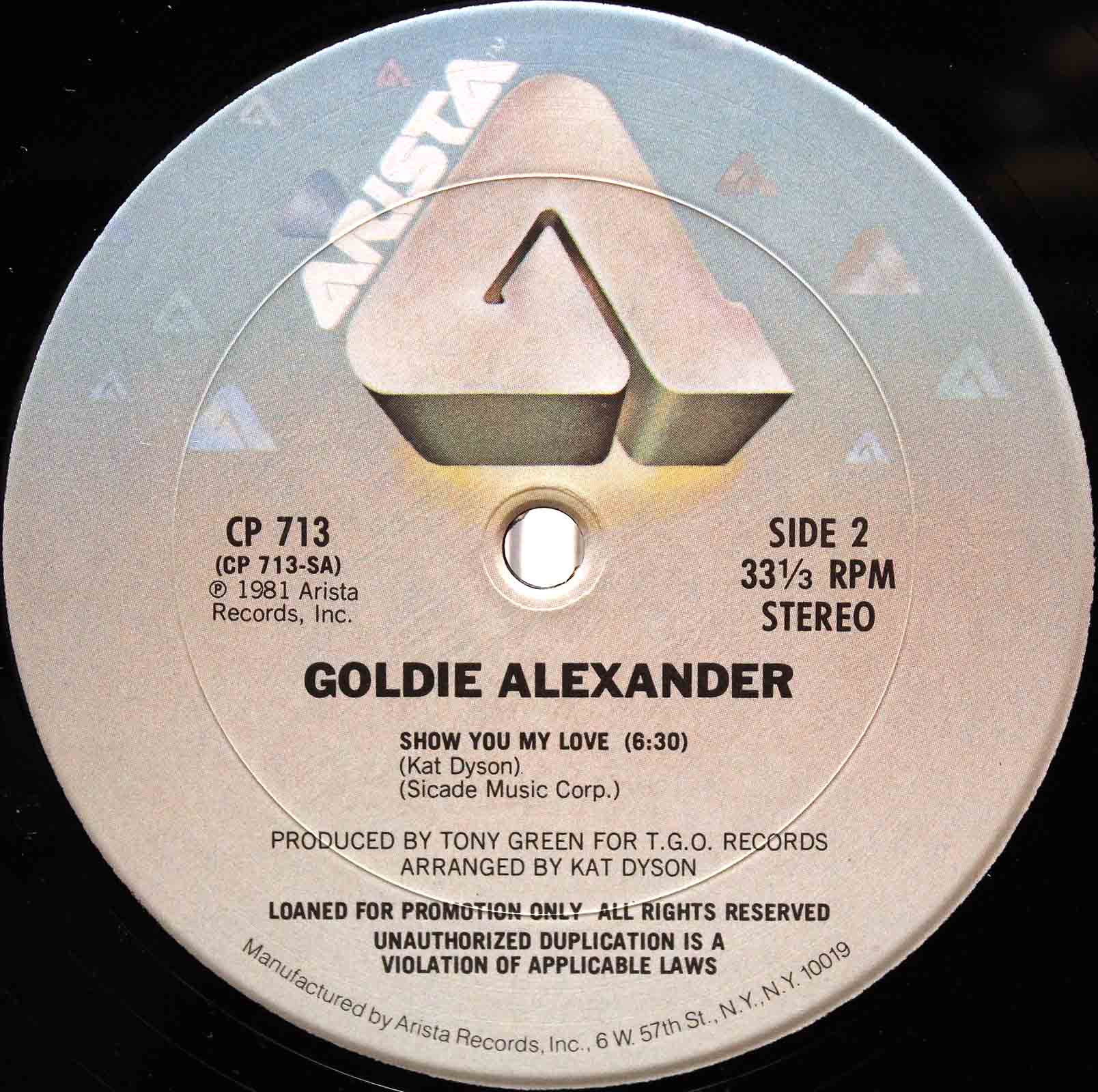 Goldie Alexander ‎- show you my love 04