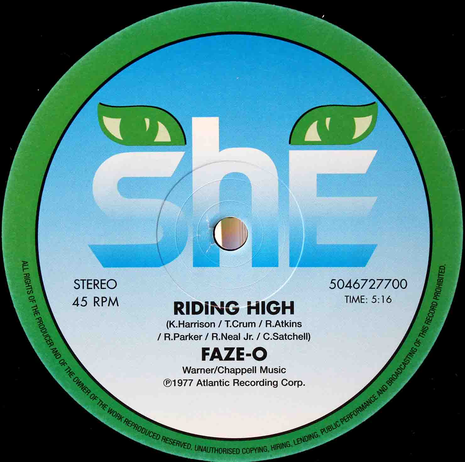 Faze-O – Riding High 12inch 02