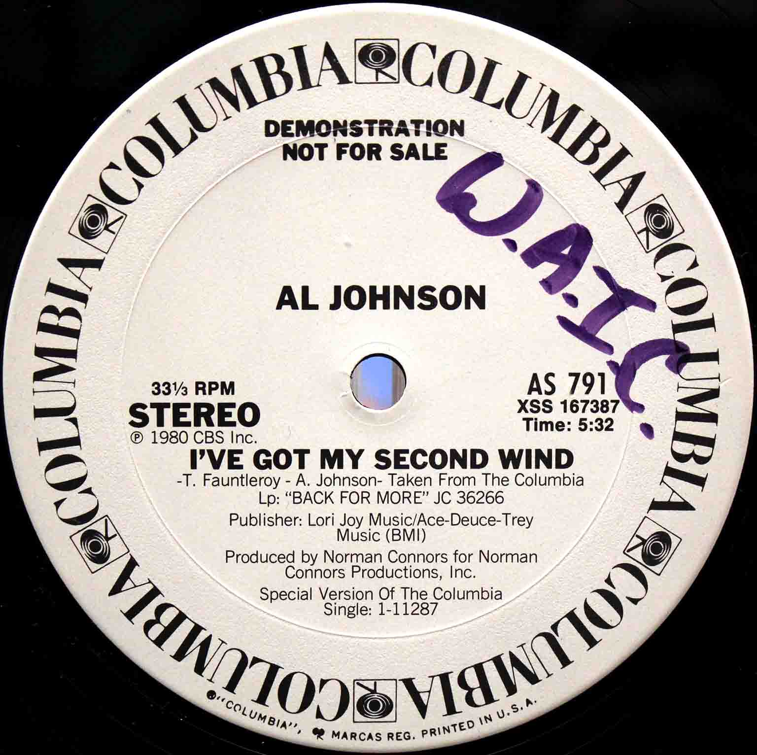 Al Johnson ‎– Ive Got My Second Wind 02