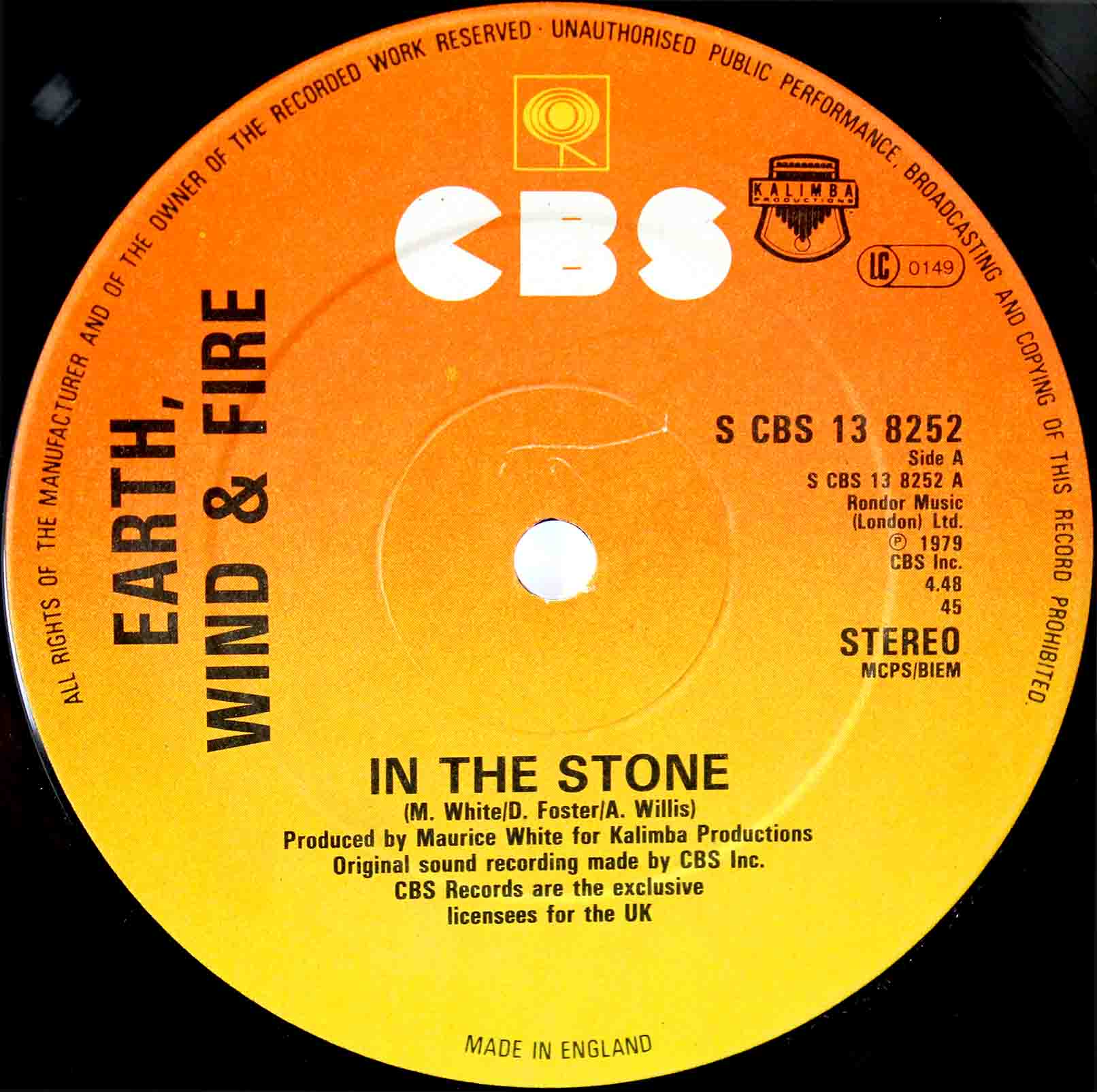 Earth, Wind Fire ‎– In The Stone 03