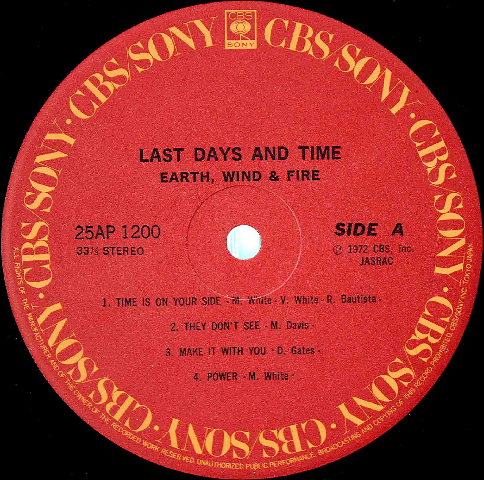 Earth, Wind Fire - Last Days And Time 05