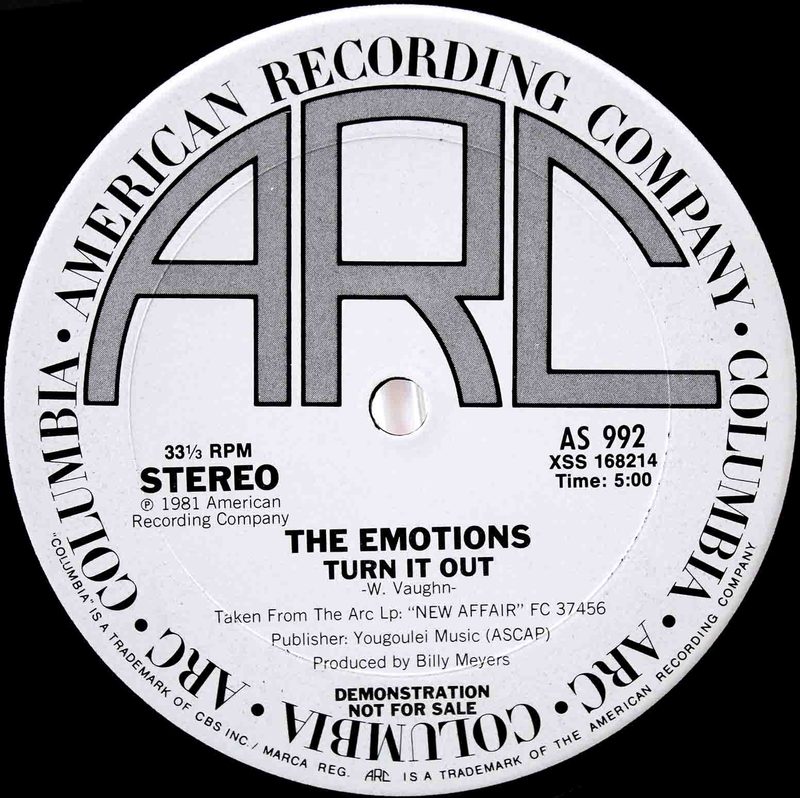 The Emotions – Turn It Out US Promo 12 02