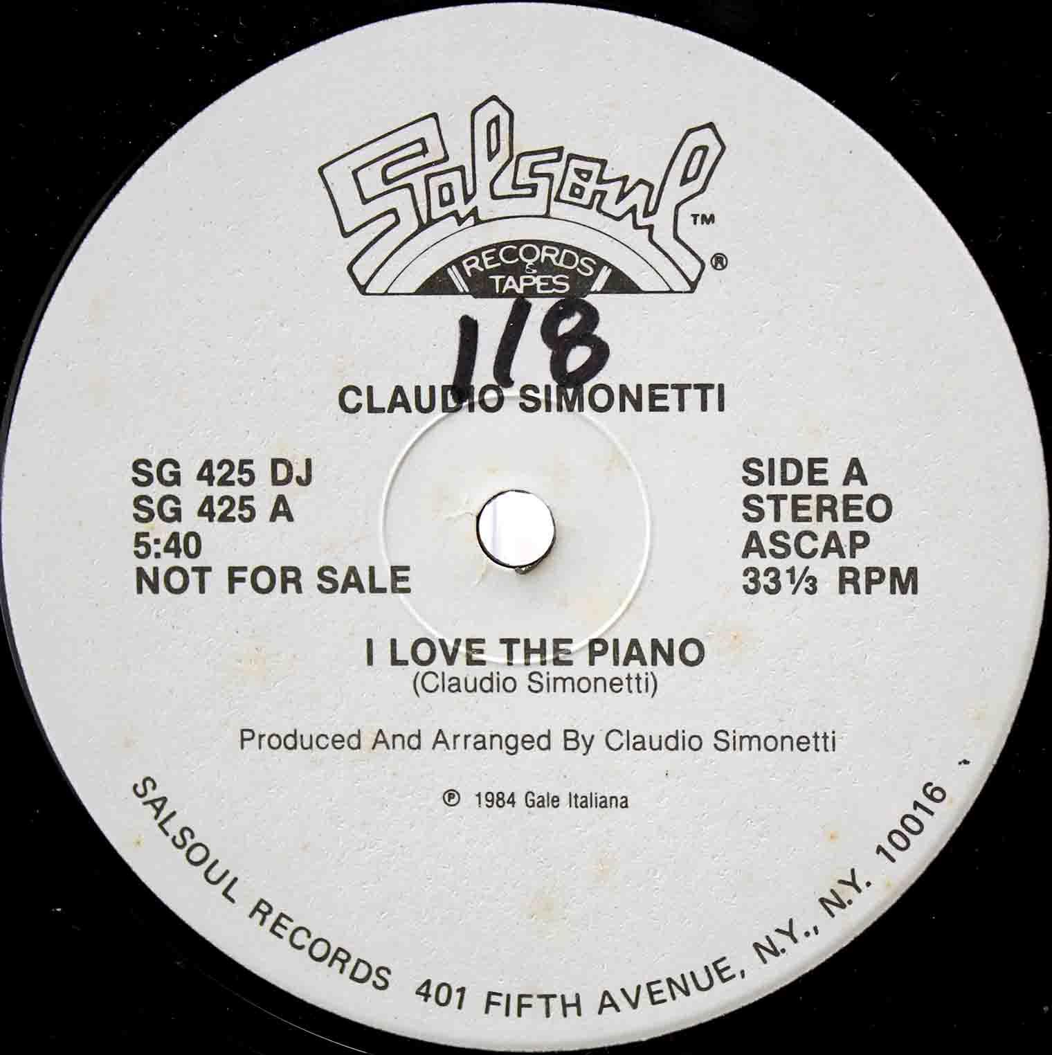 Claudio Simonetti – I Love The Piano US 03