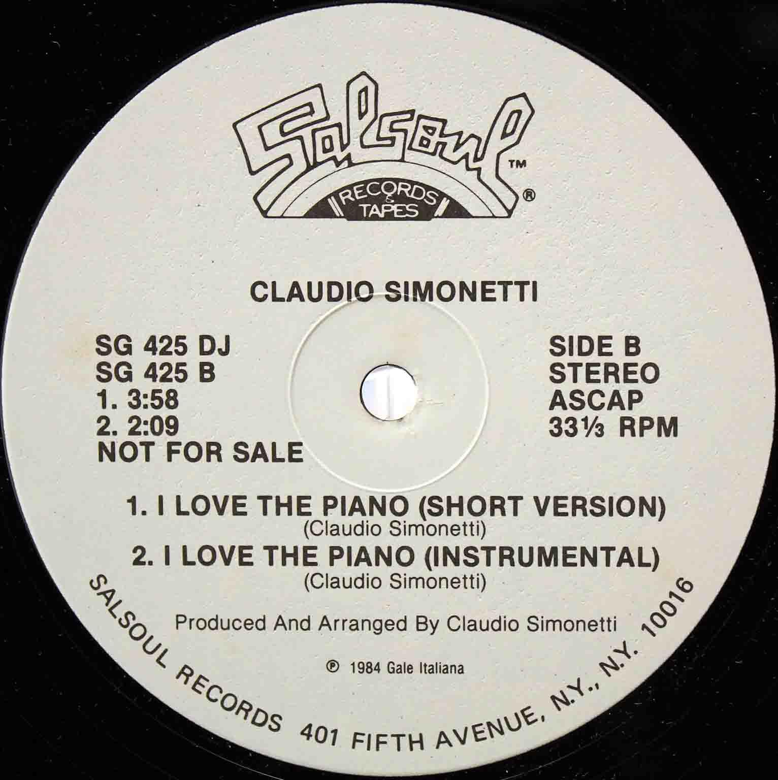 Claudio Simonetti – I Love The Piano US 04