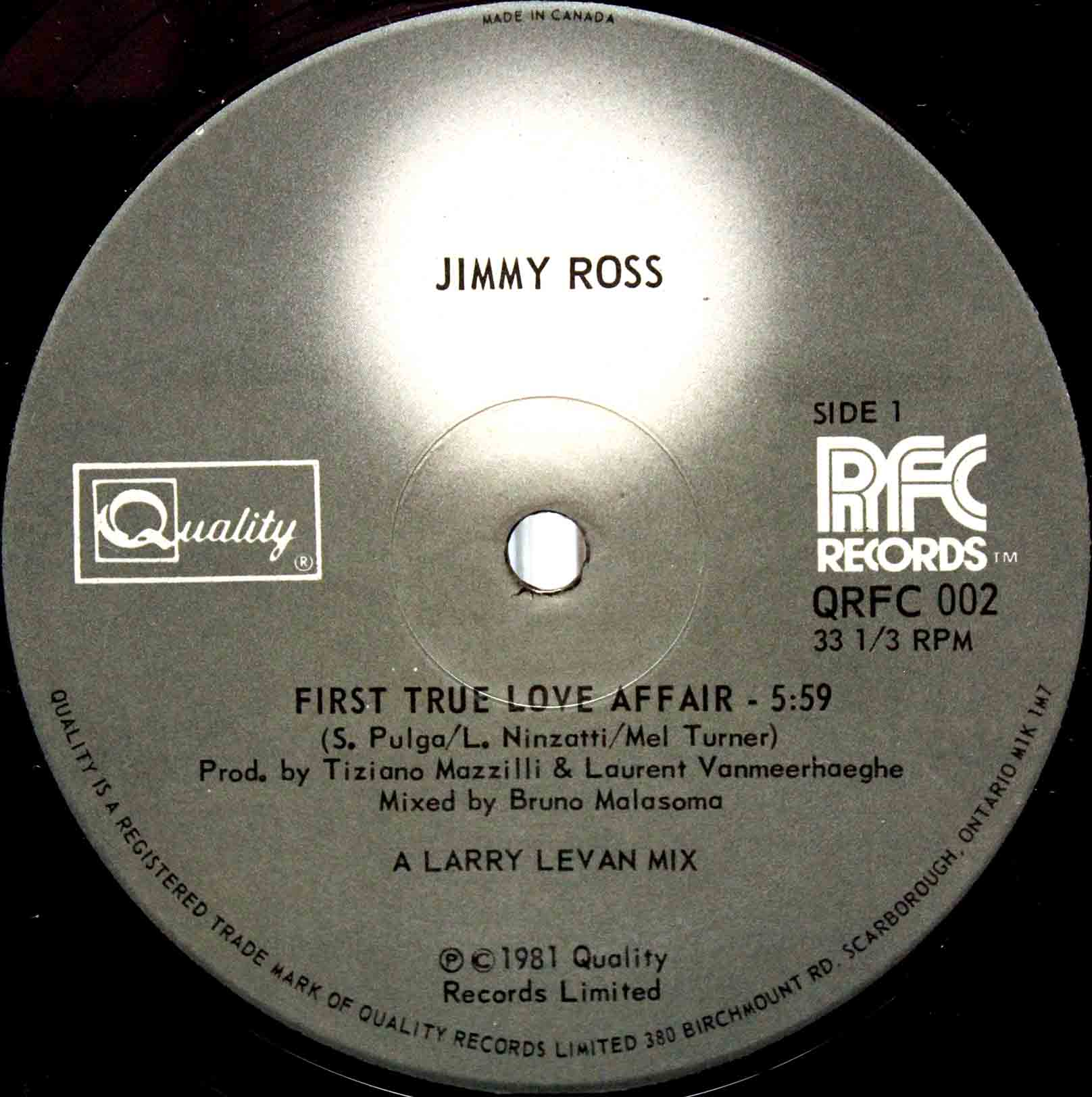 Jimmy Ross ‎– First True Love Affair 03