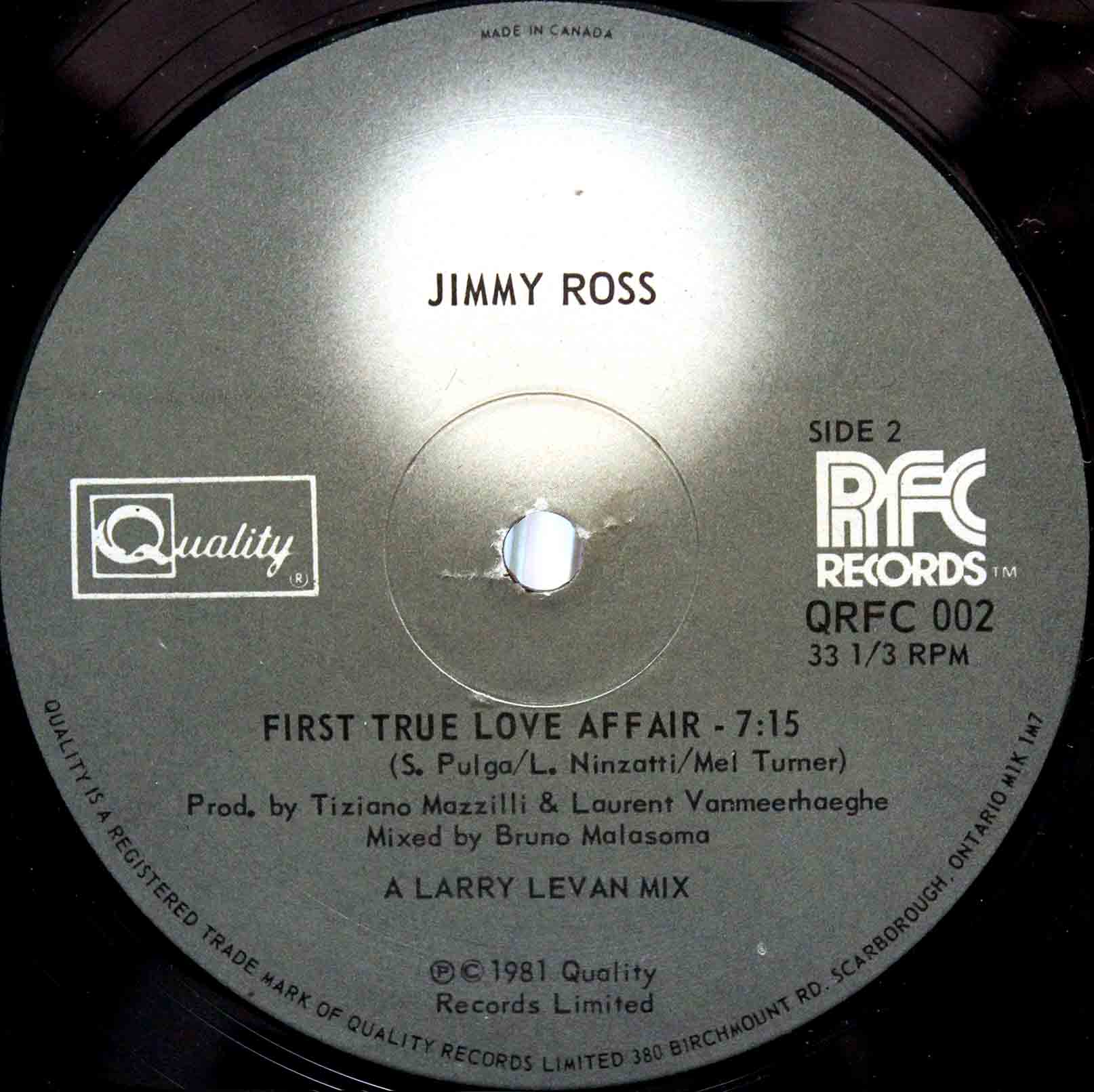 Jimmy Ross ‎– First True Love Affair 04