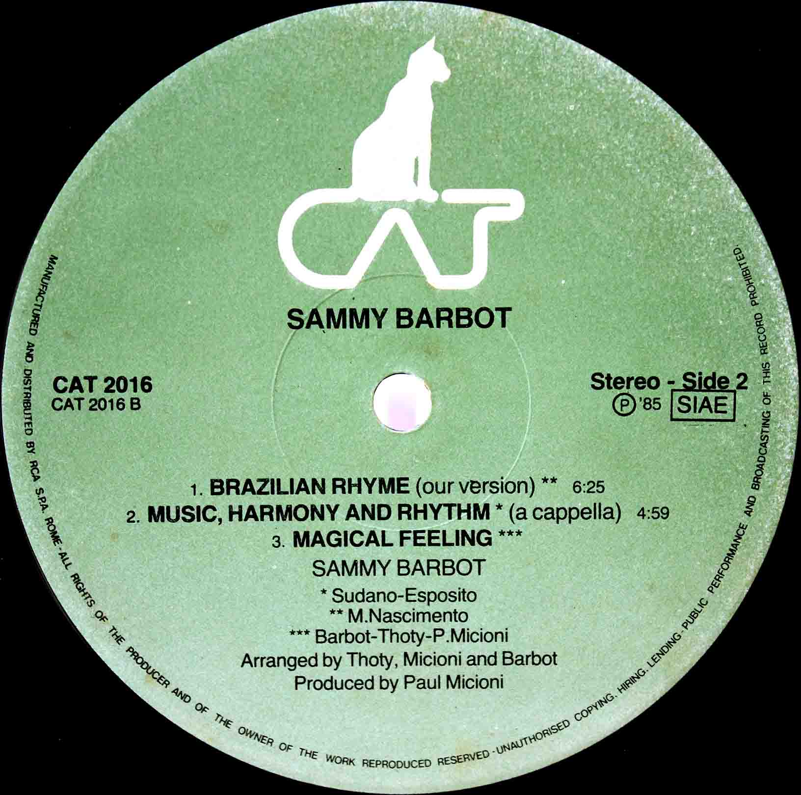 Sammy Barbot ‎– Music, Harmony And Rhythm 04