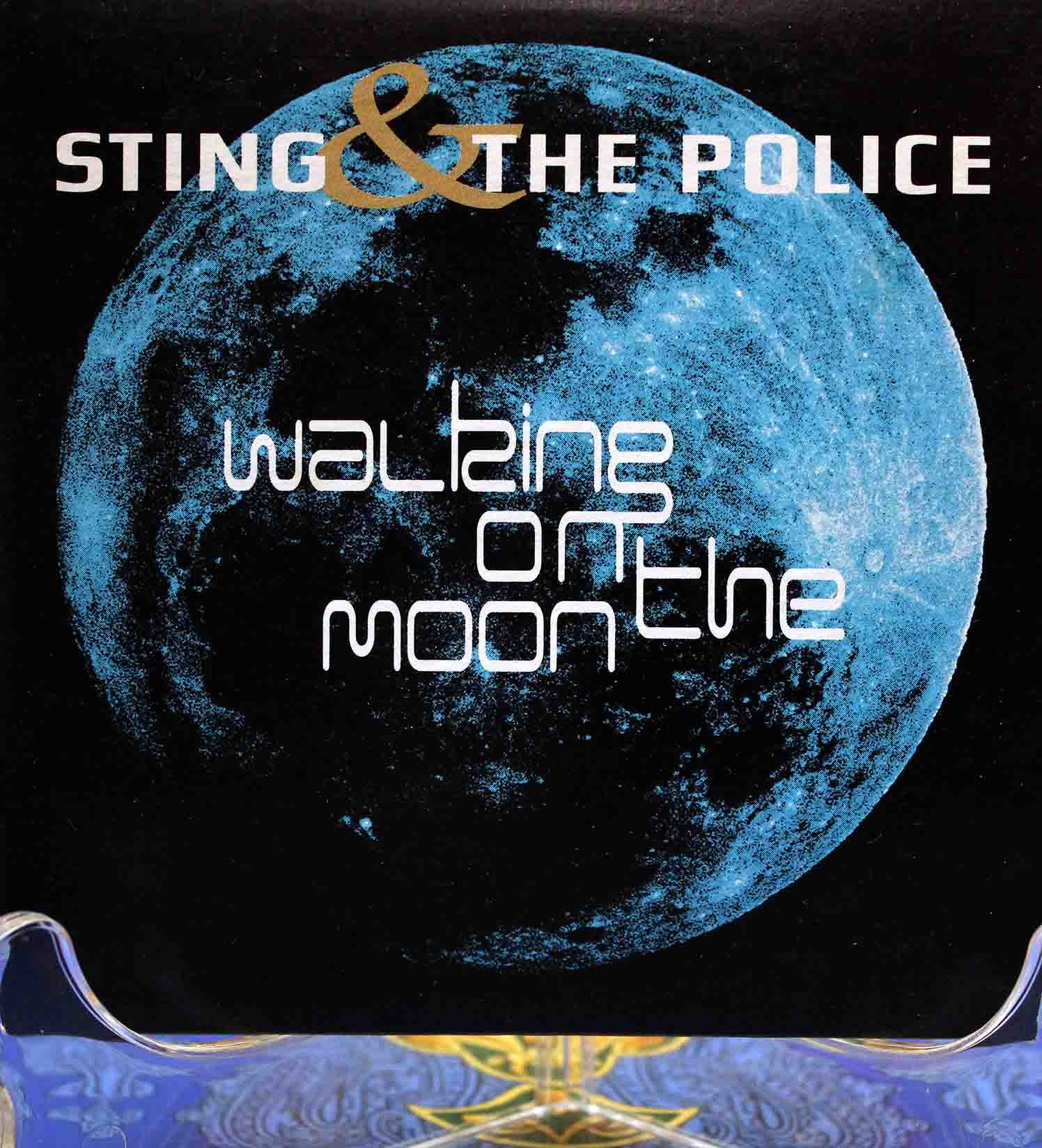 The police walking on the moon