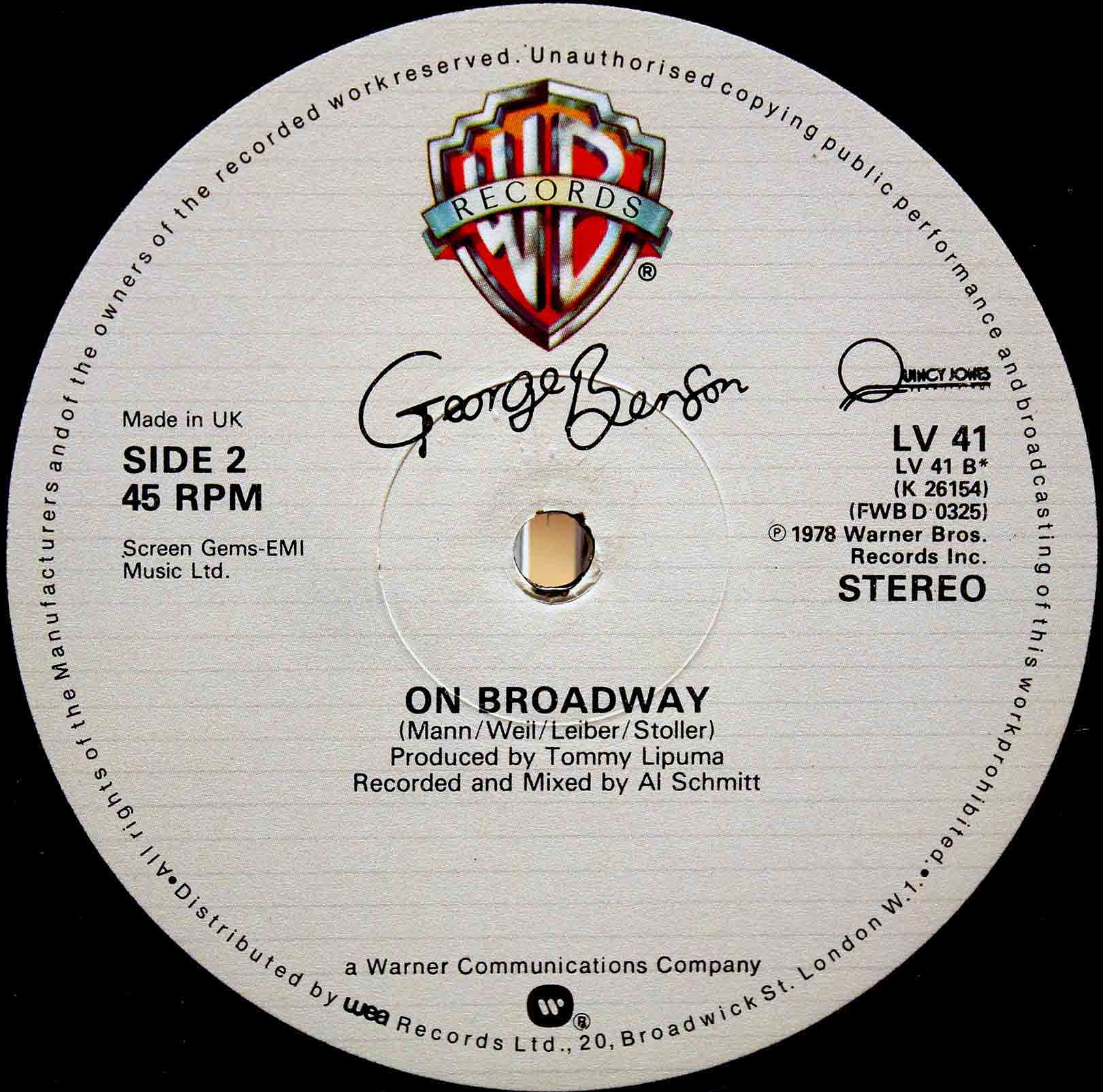 George Benson ‎– On Broadway 02